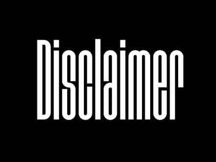 Disclaimer Font