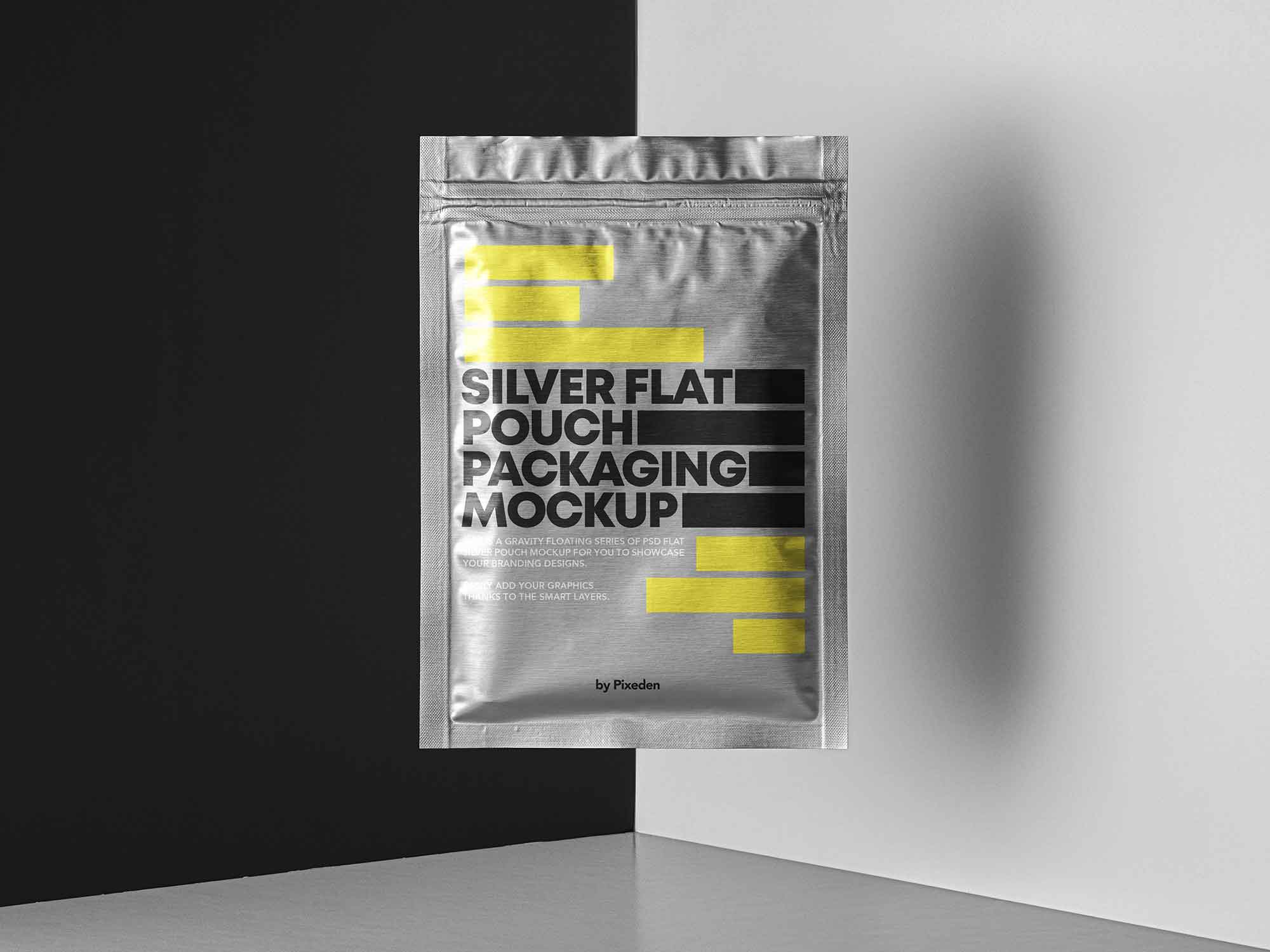 Flat Pouch Packaging Mockup