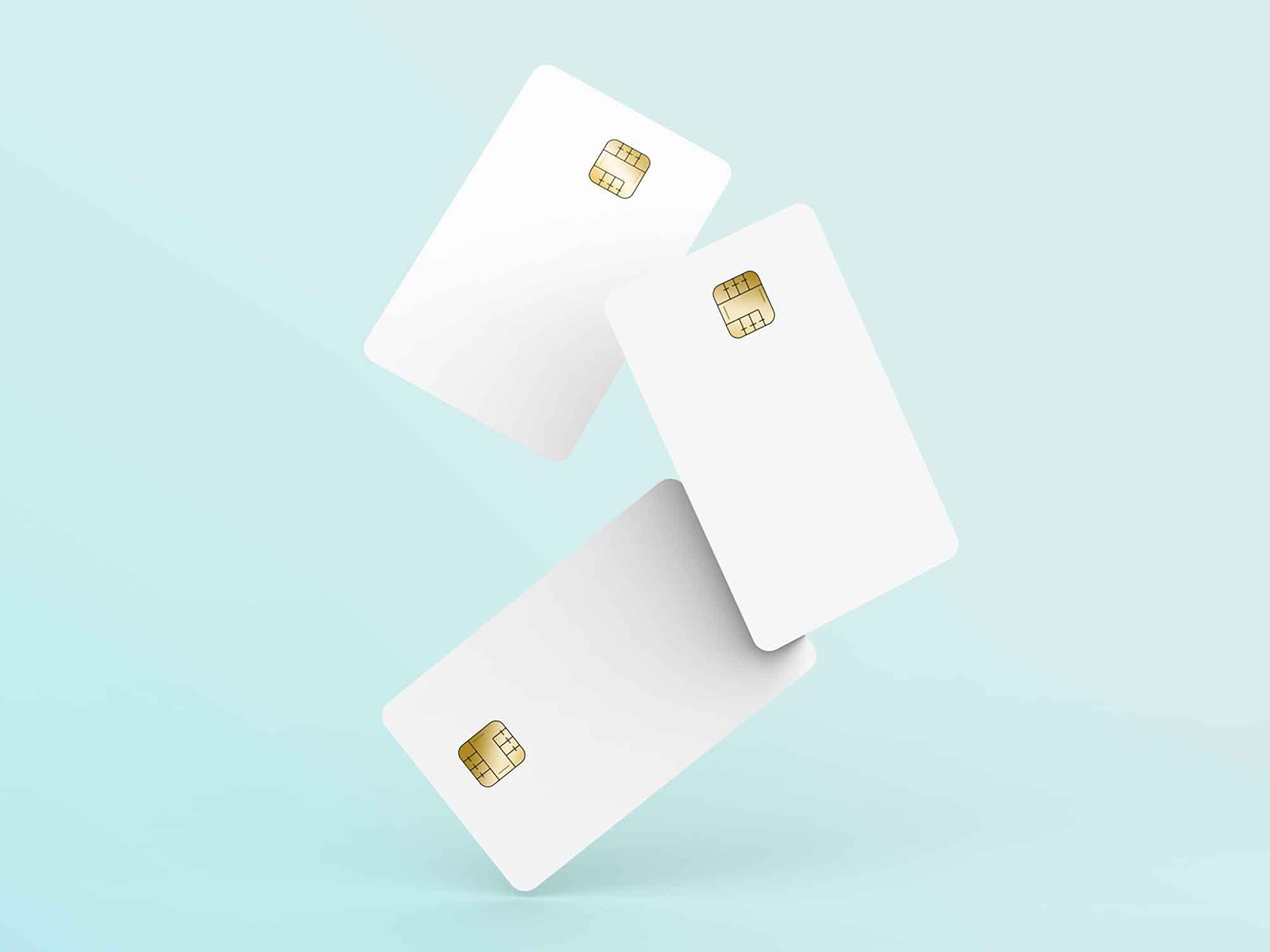 Floating Credit Cards Mockup 3