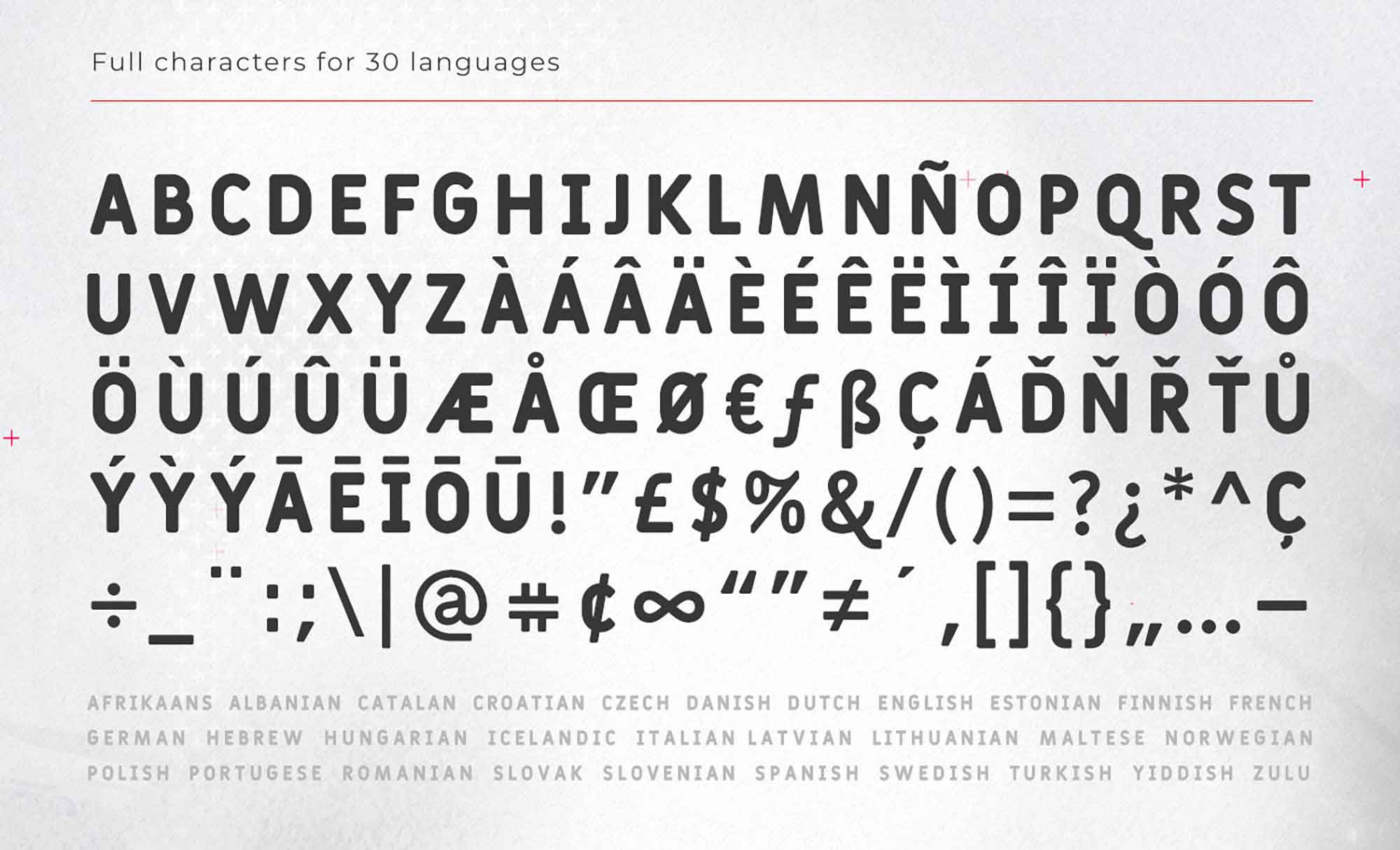 Fulbo Font Letters