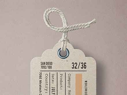 Garment Label Tag Mockup
