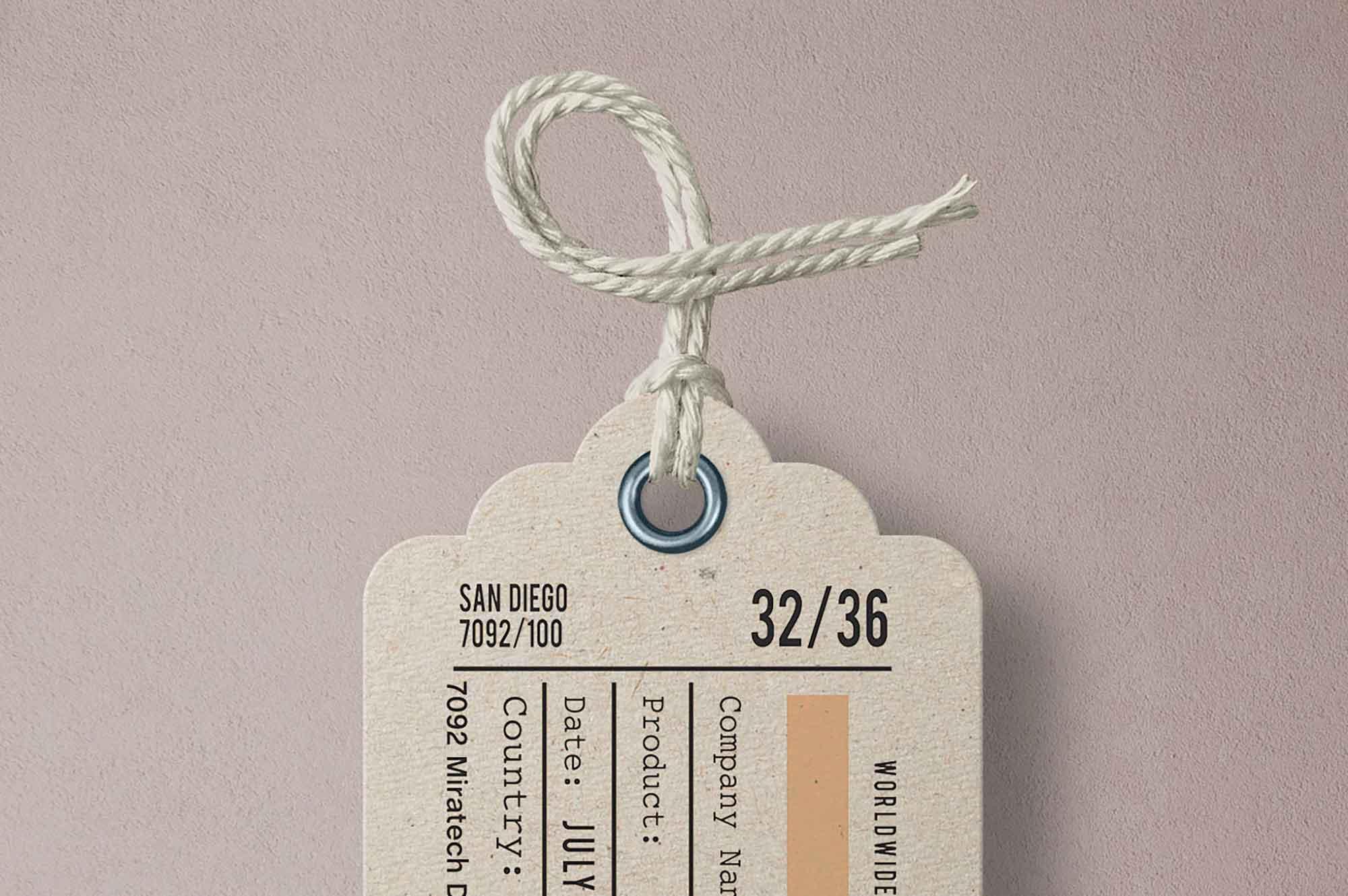 Garment Label Tag Mockup 3