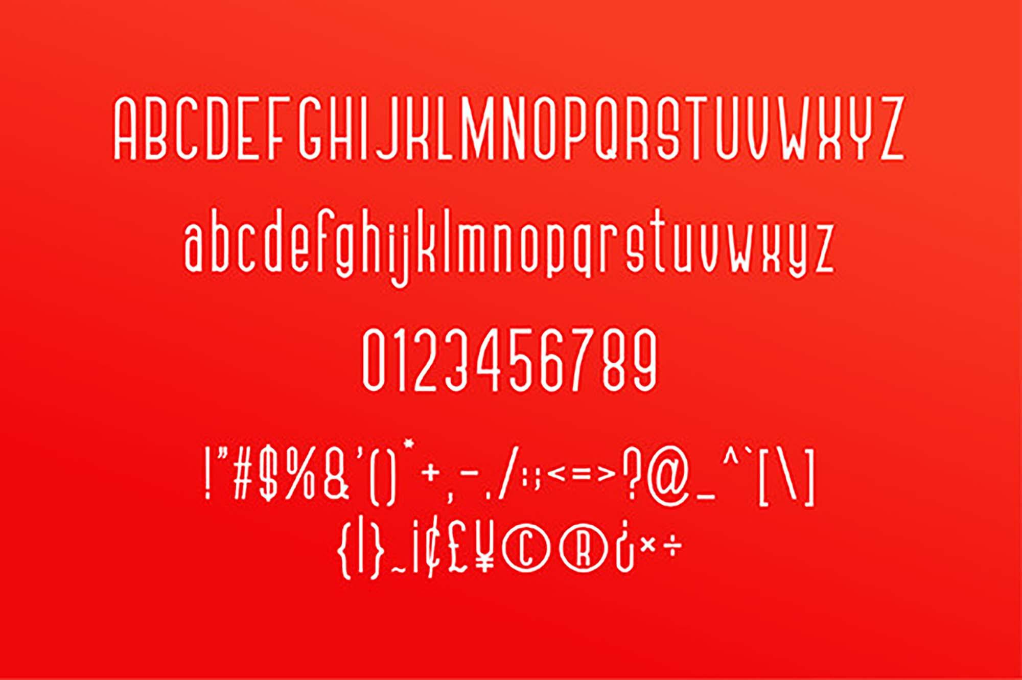 Gennaro Sans Font Characters