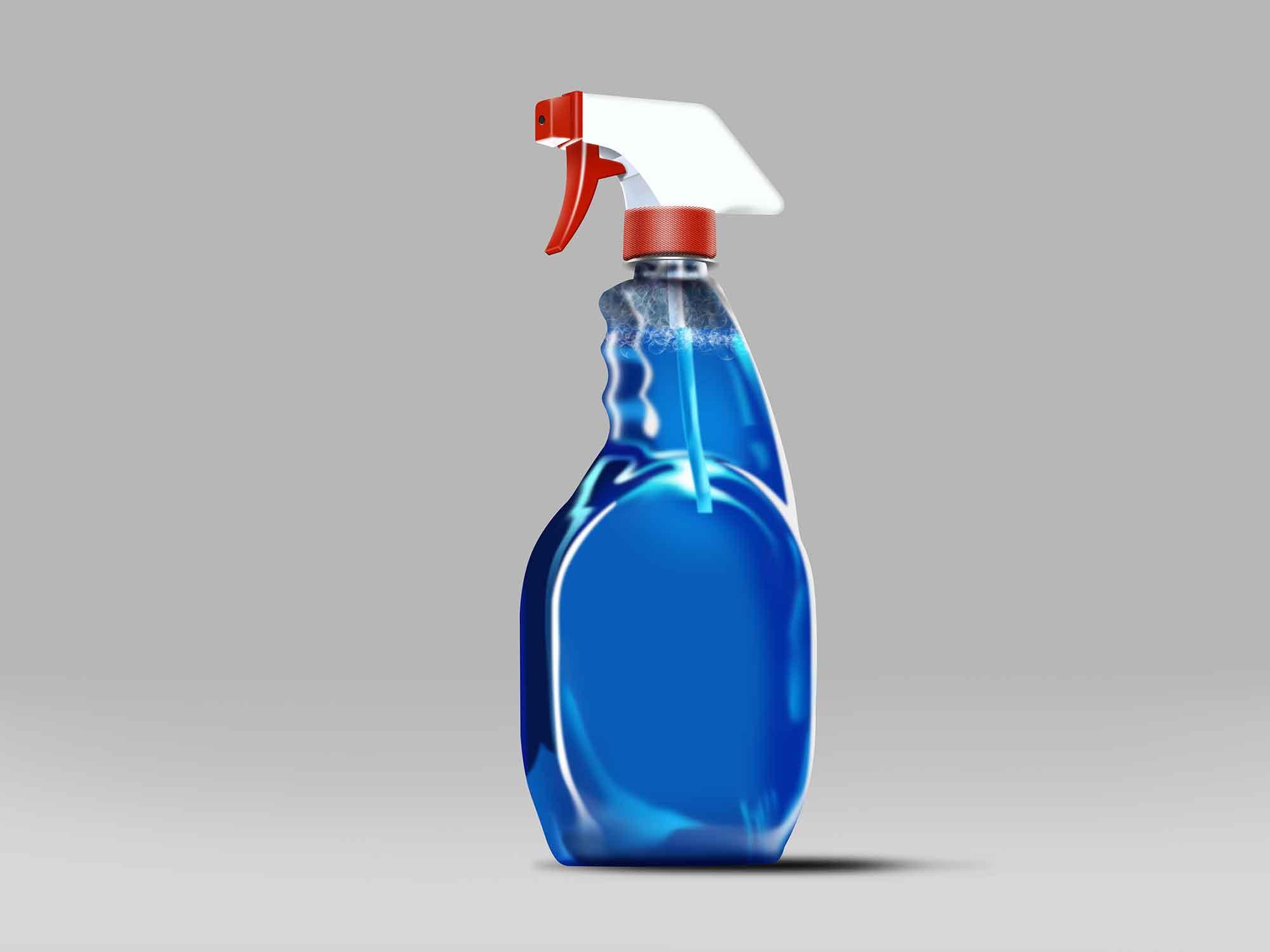 Glass Cleaner Spray Mockup 2