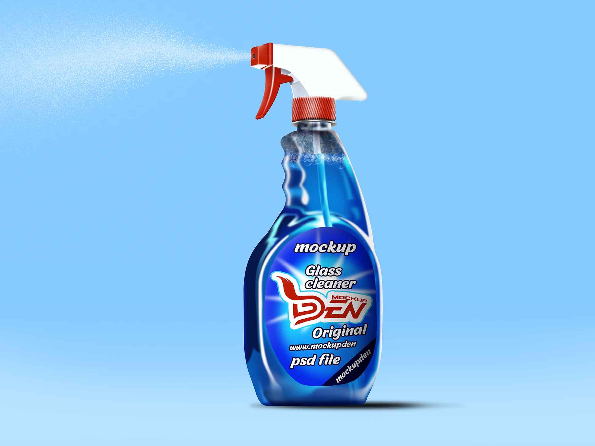 Glass Cleaner Spray Mockup
