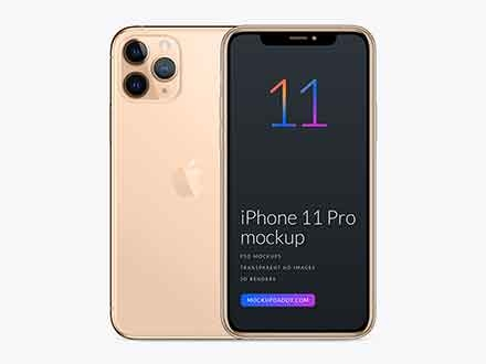Gold iPhone 11 Pro Mockup