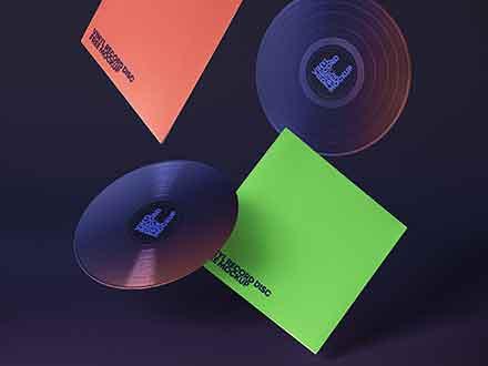 Gravity Vinyl Mockup