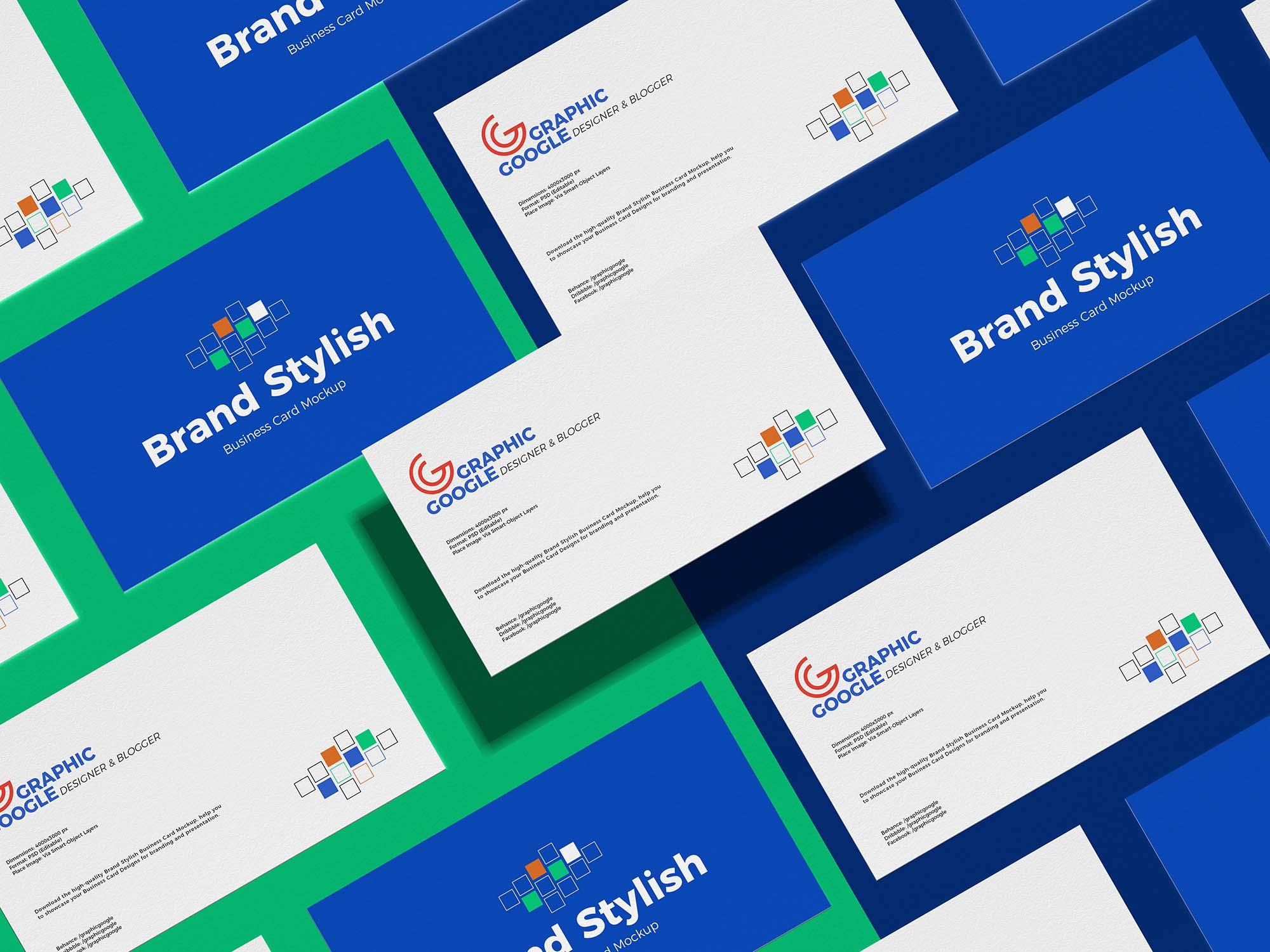 Grid Business Card Mockup
