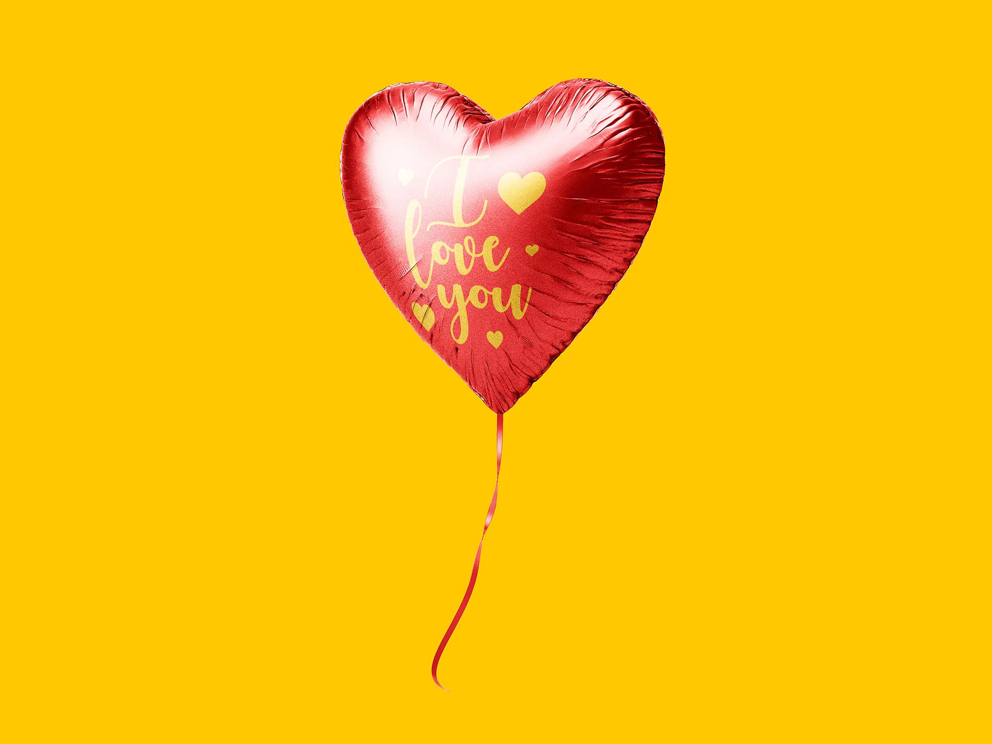Heart Balloon Mockup 2