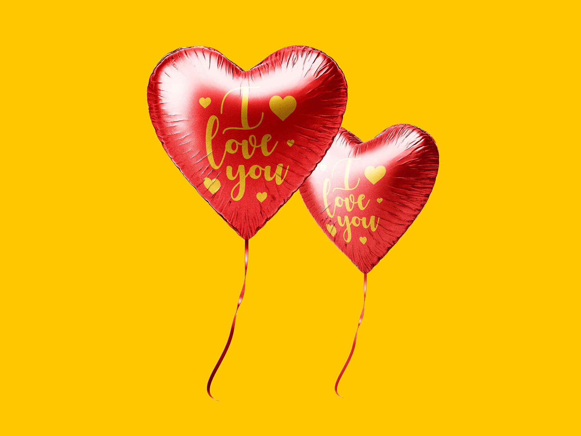 Heart Balloon Mockup