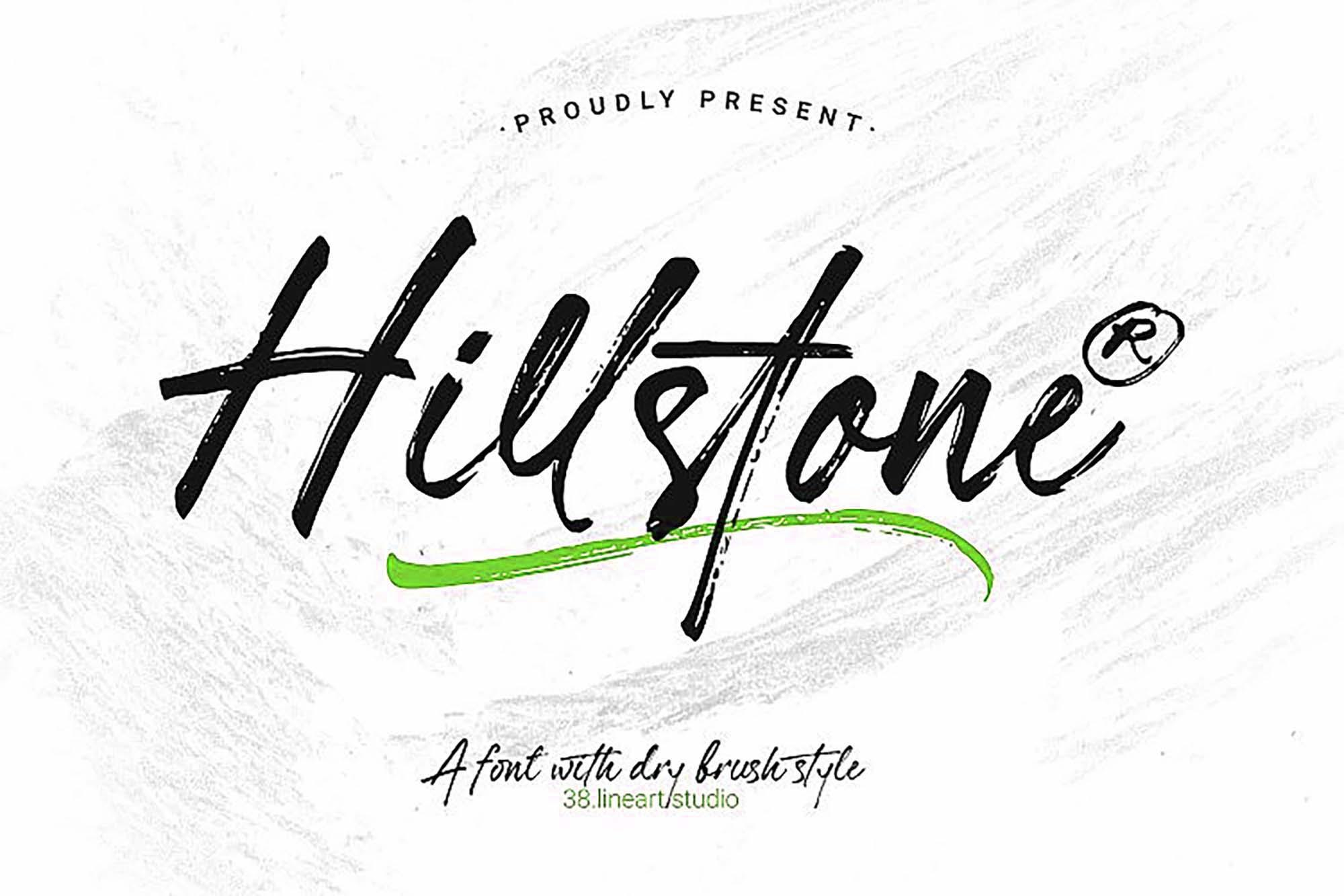 Hillstone Brush Font 1