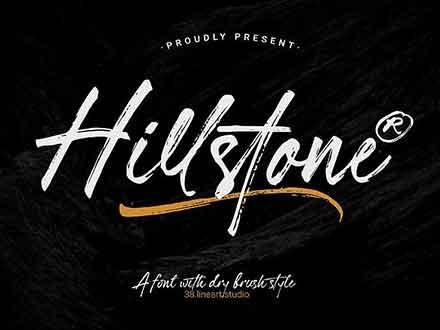 Hillstone Brush Font