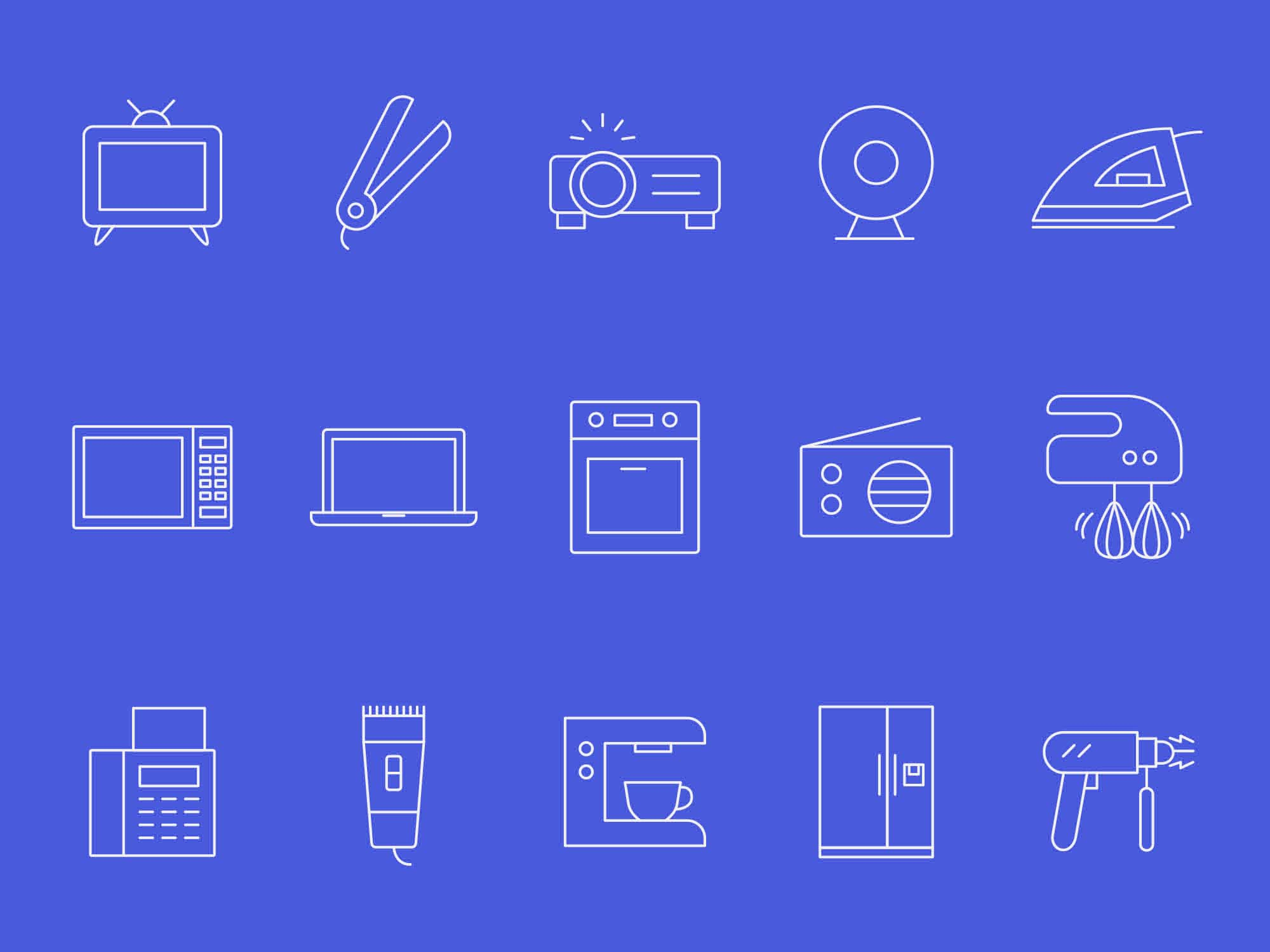 Home Appliances Vector Icons 2