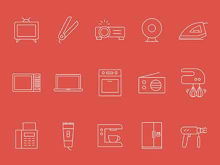 Home Appliances Vector Icons