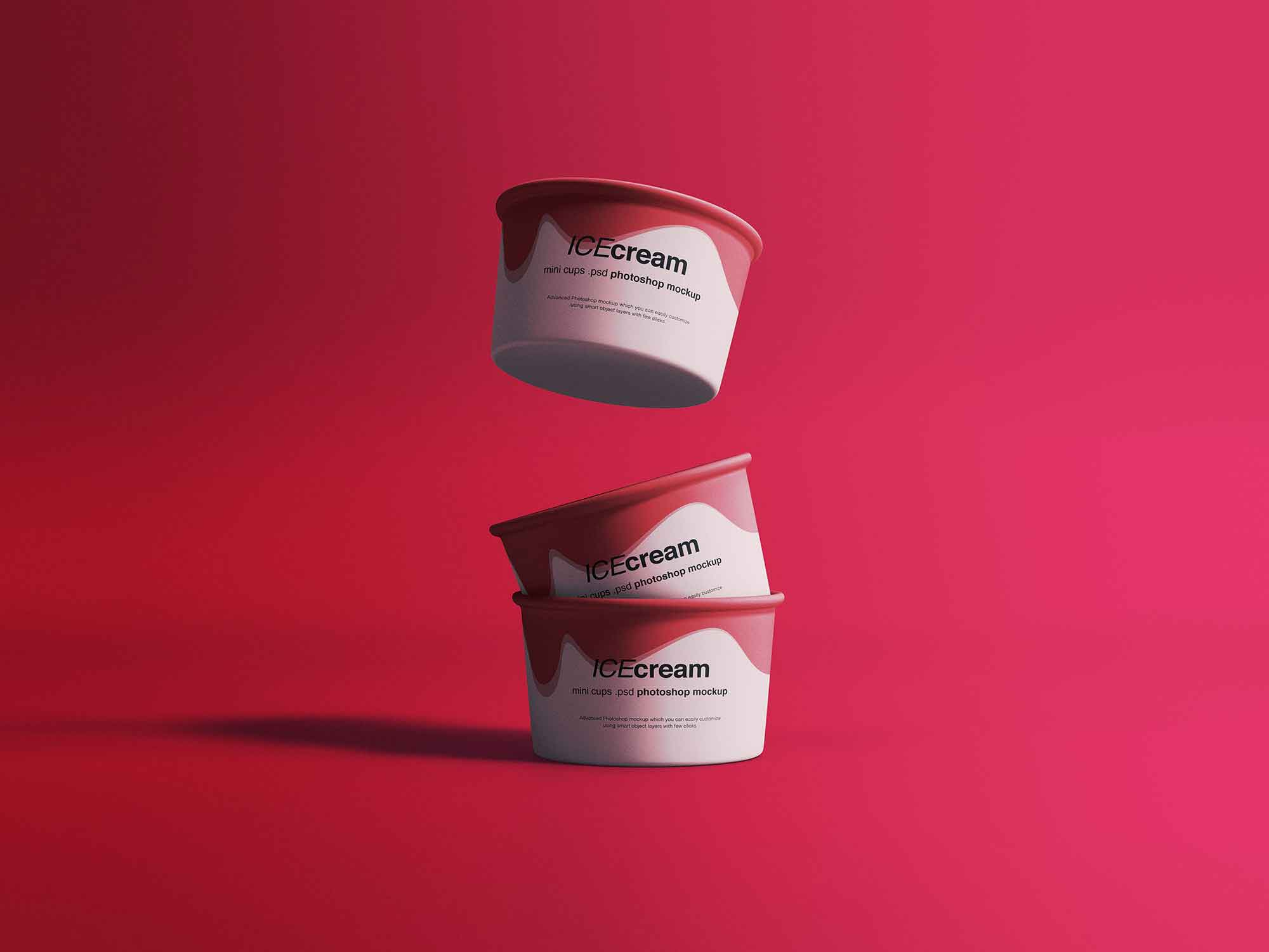 Ice Cream Cups Mockup 2