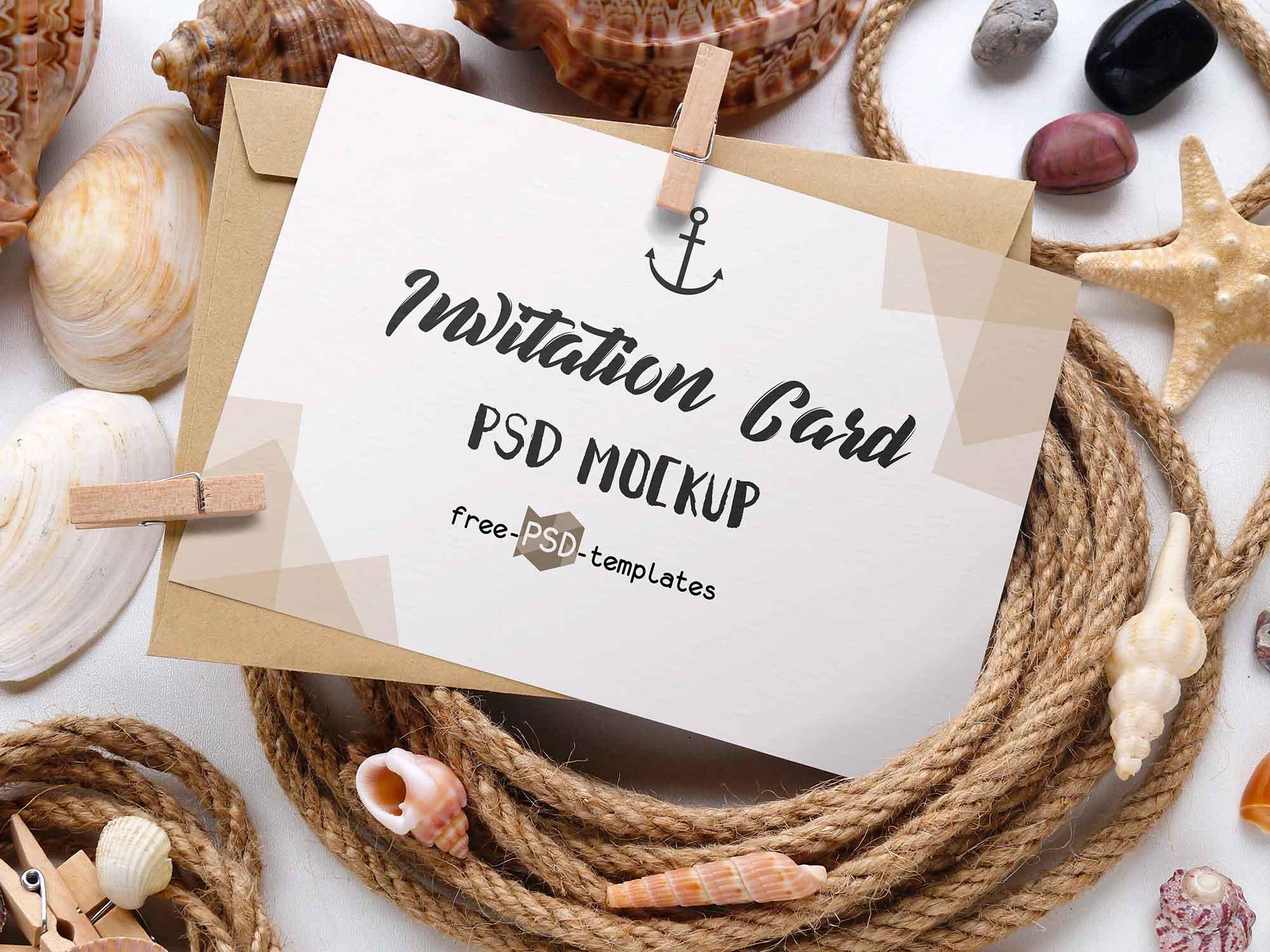 Invitation Card Mockups