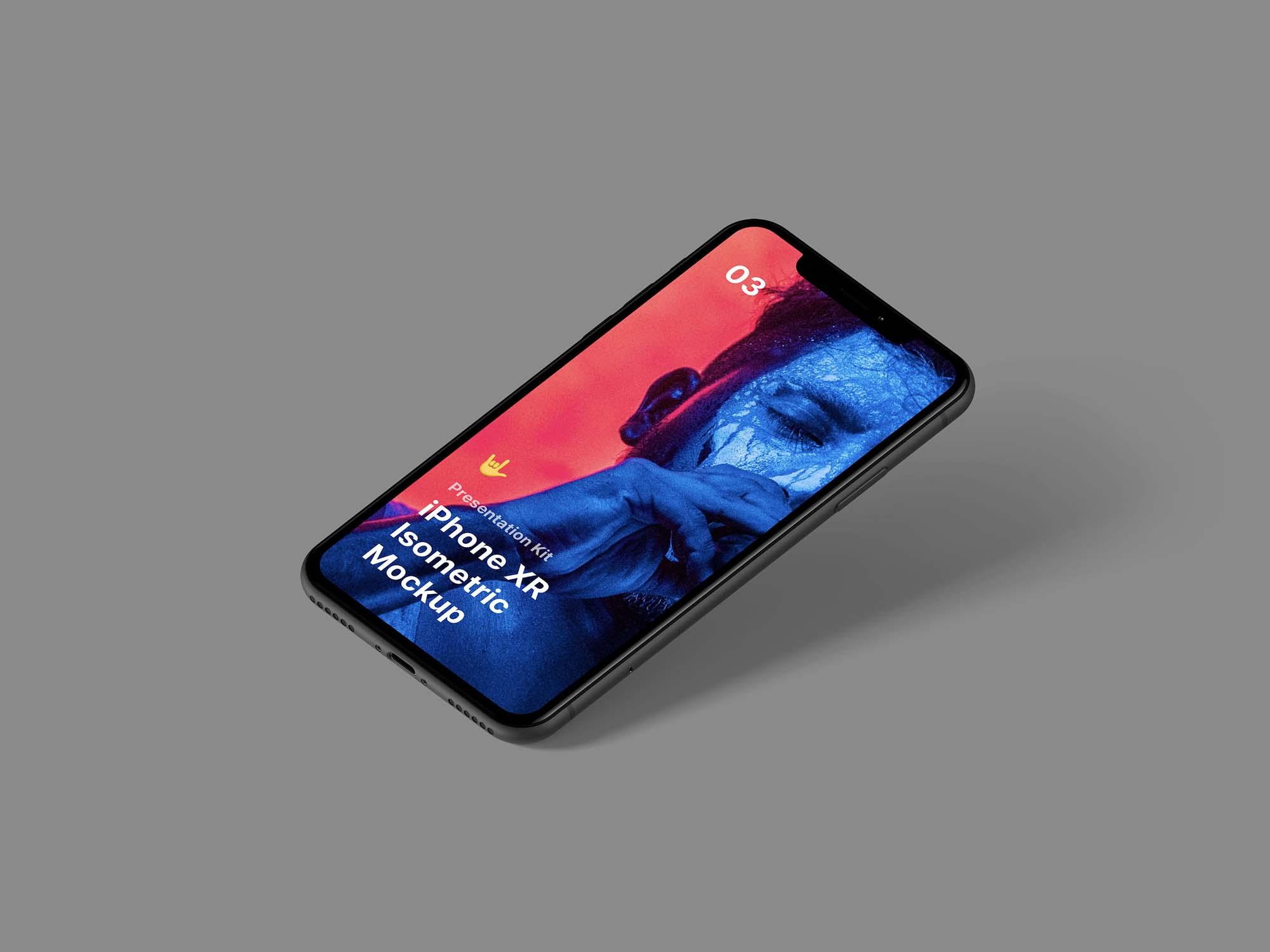 Isometric iPhone XR Mockup 2