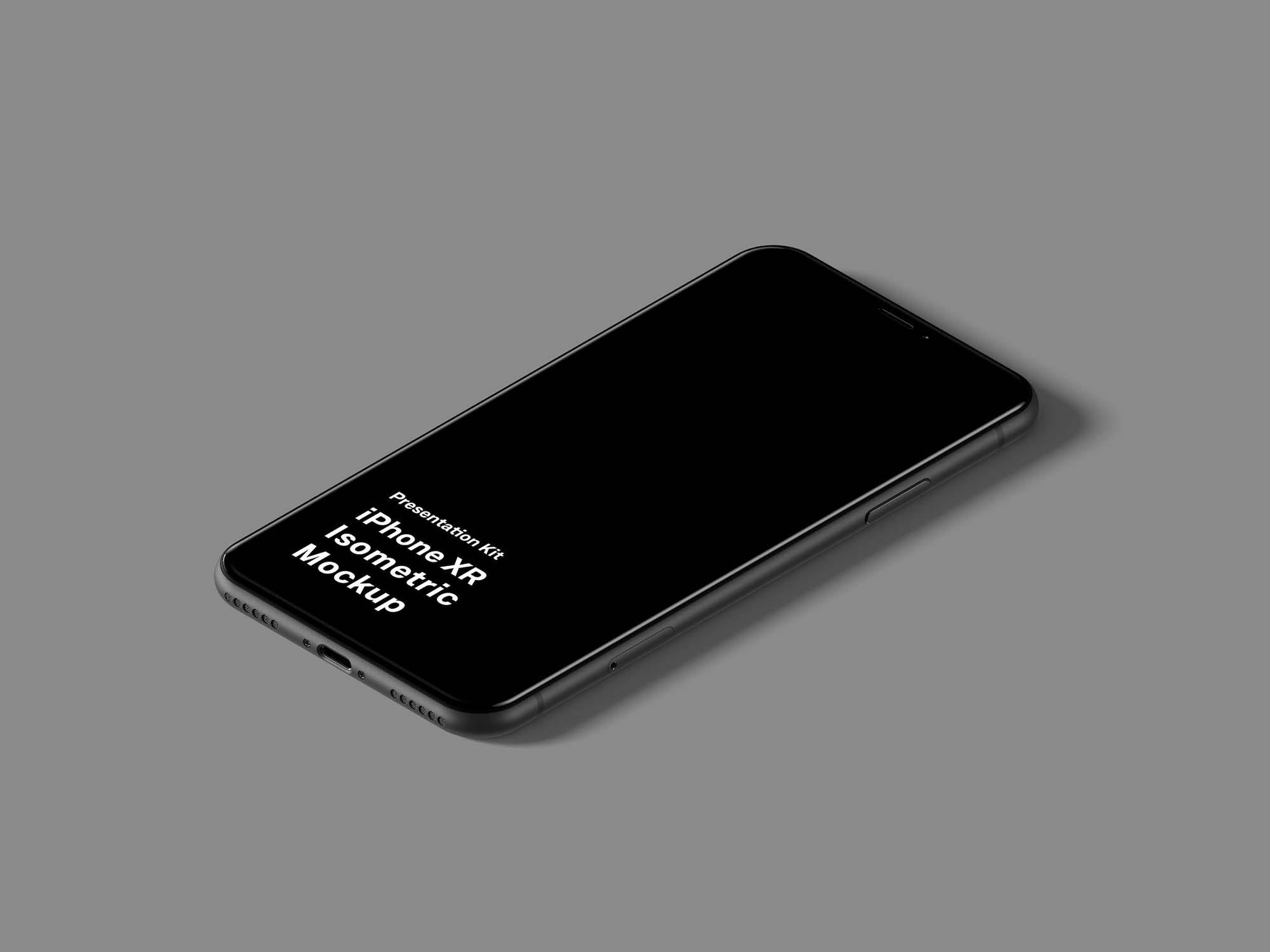 Isometric iPhone XR Mockup 3