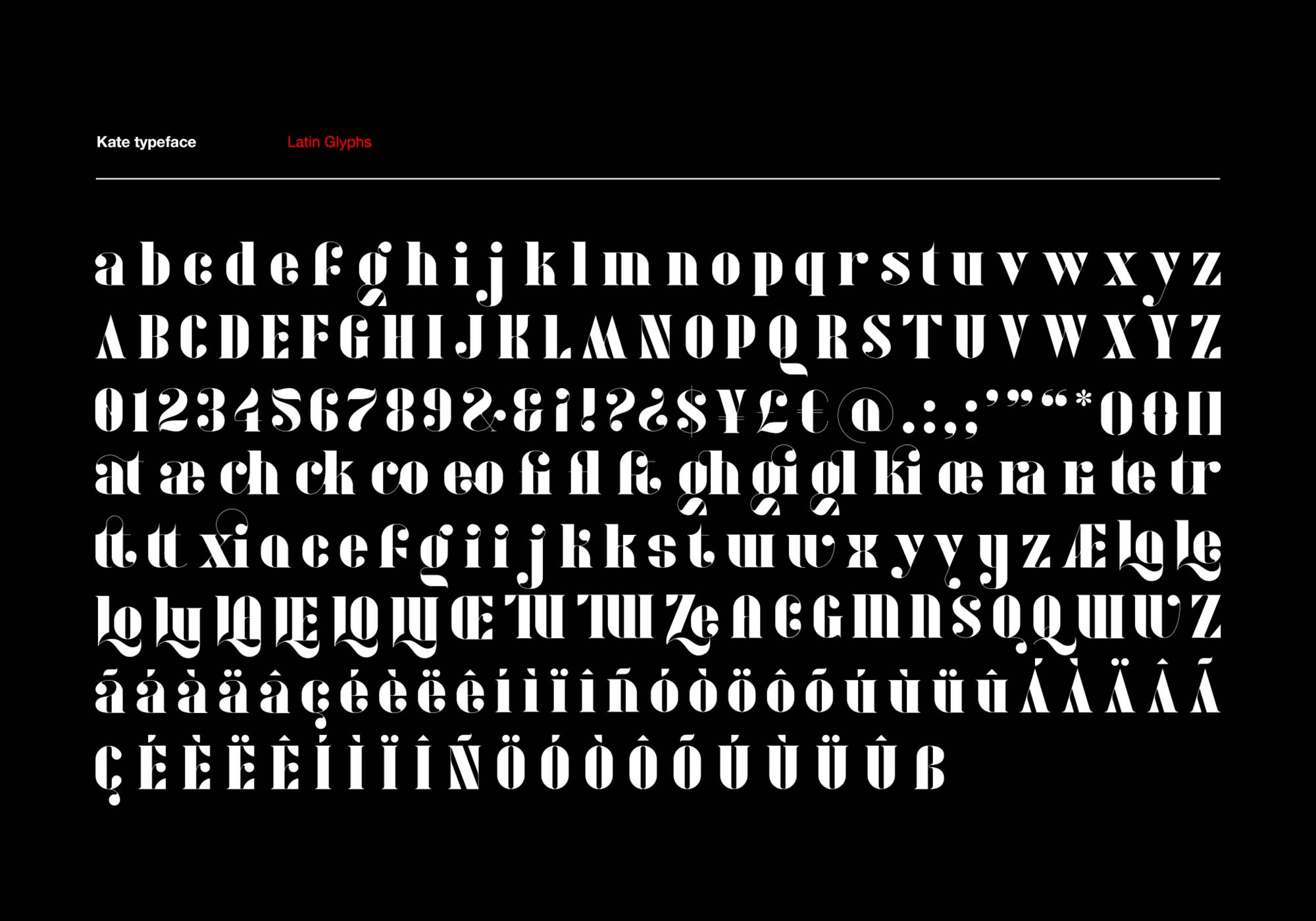 Kate Font Characters