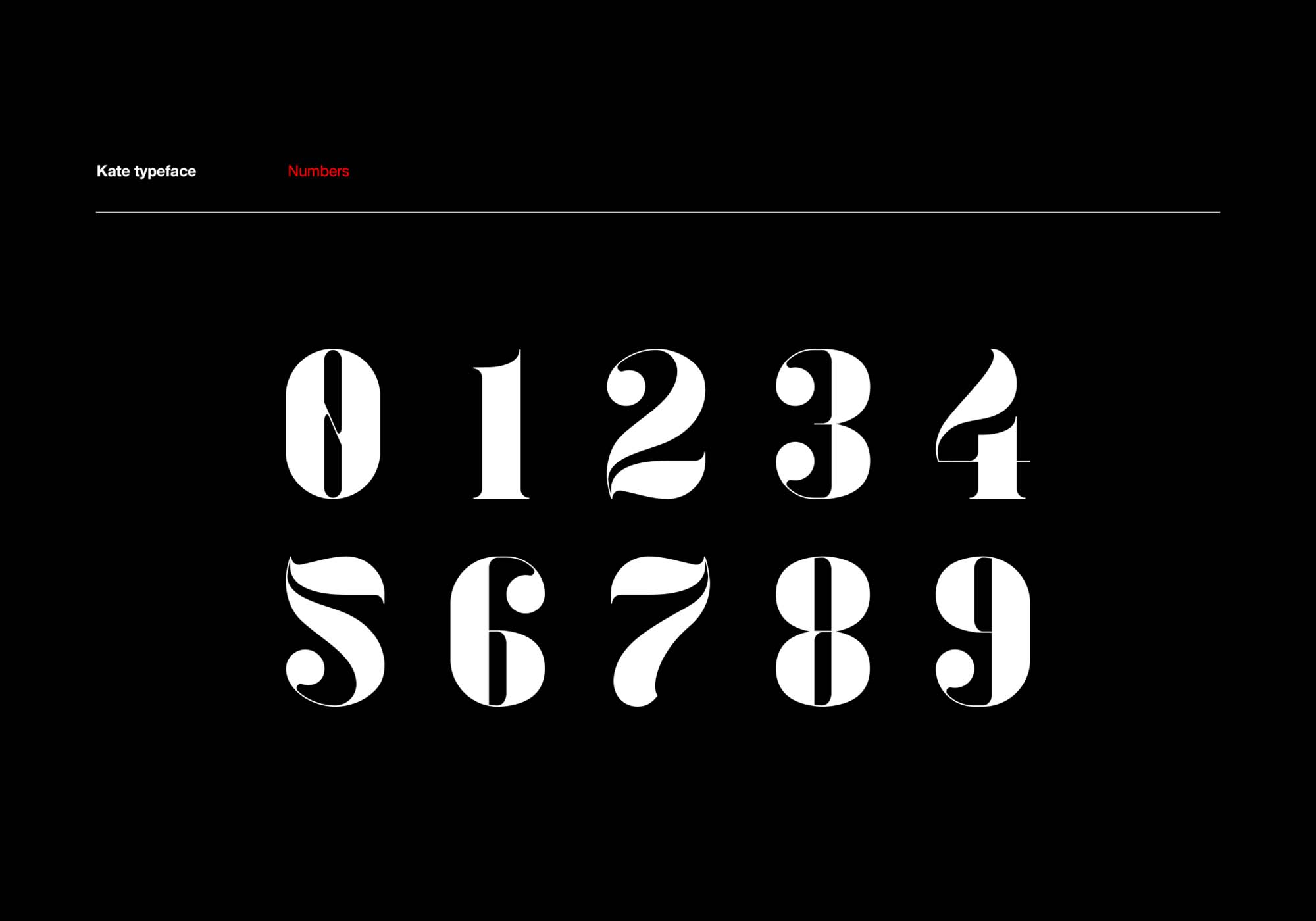 Kate Font Numerals