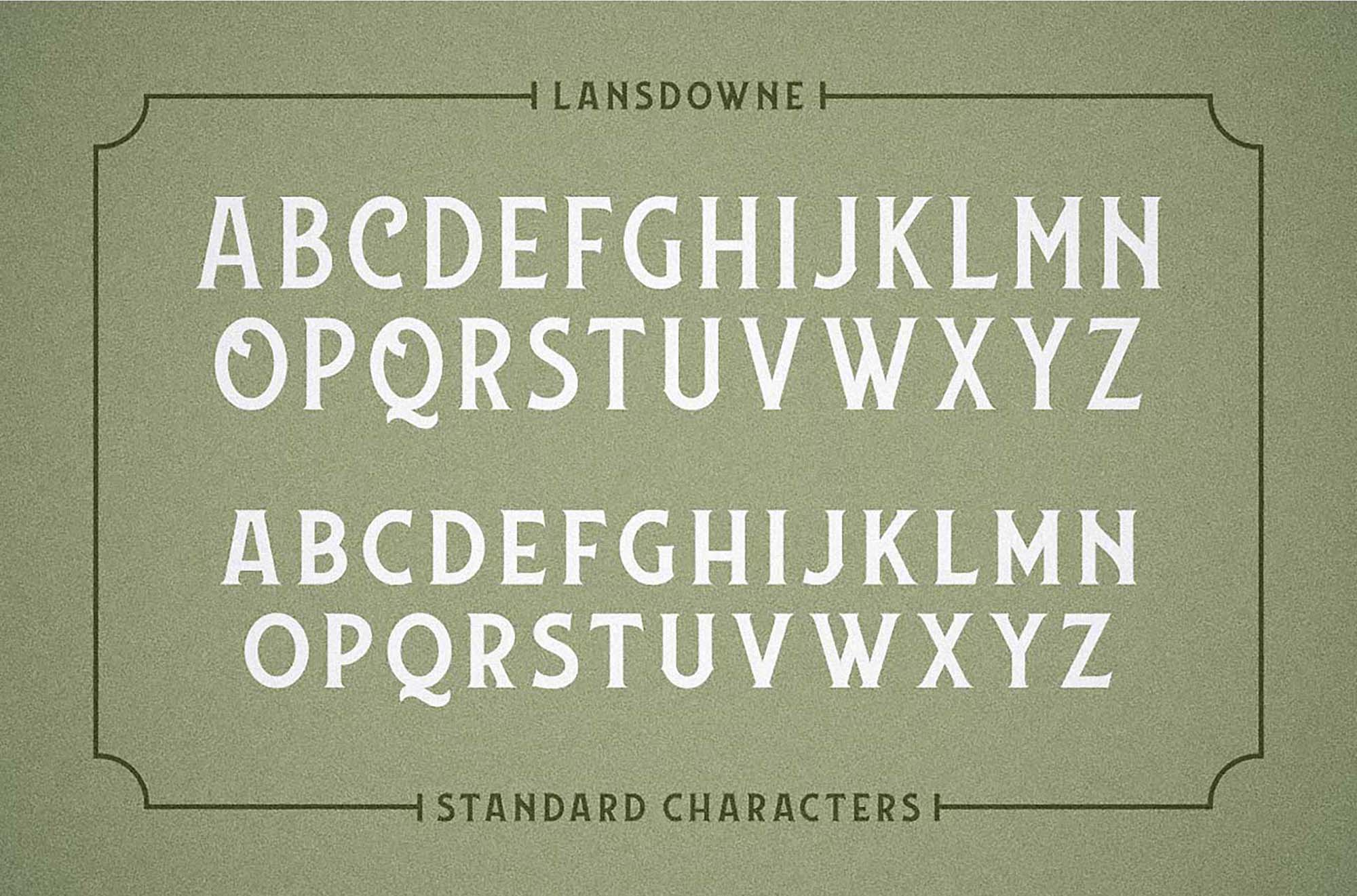 Lansdowne Font - Characters