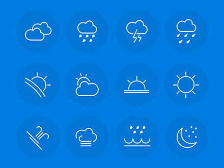 Line Weather UI Icons