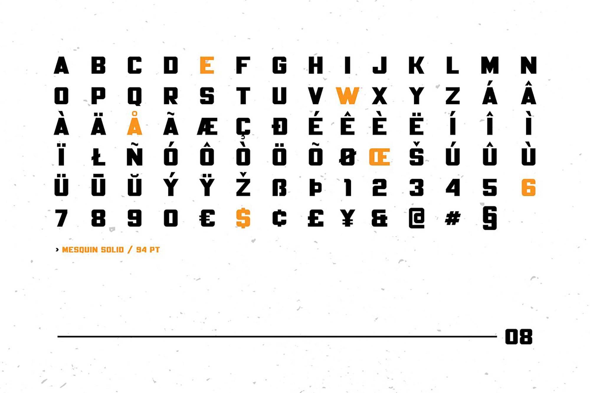 Mesquin Typeface Multilingual