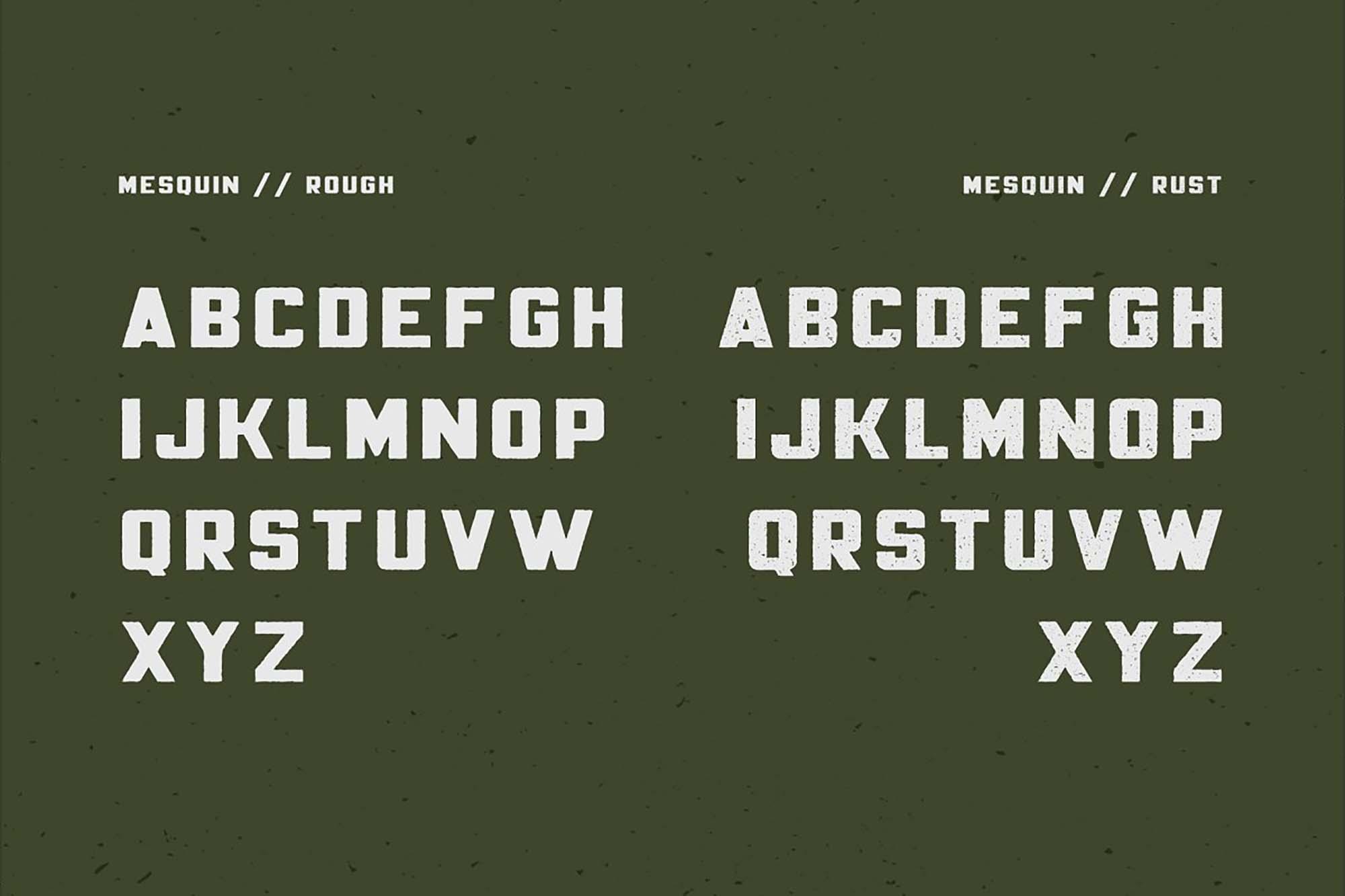 Mesquin Typeface Letters