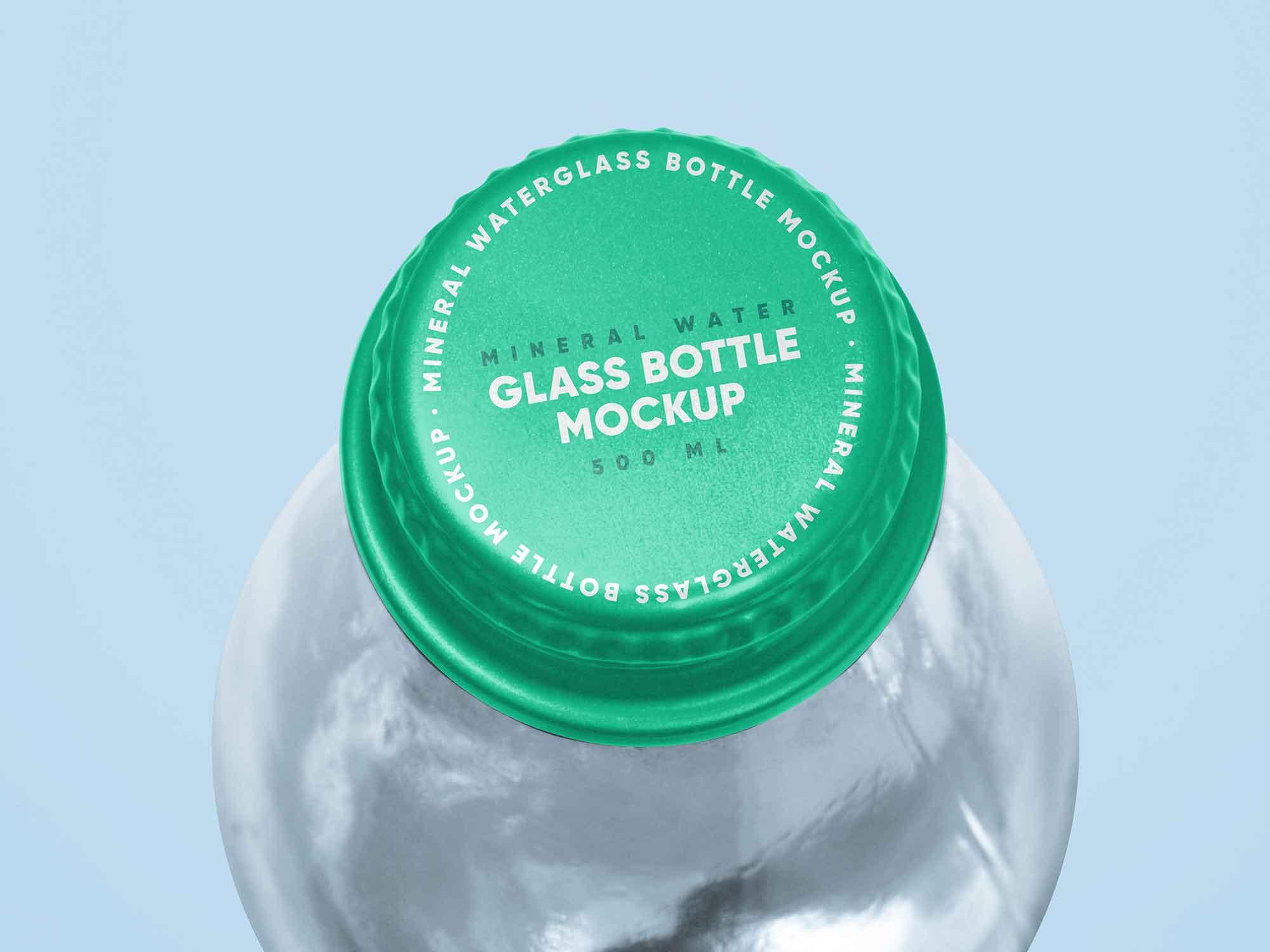 Mineral Glass Water Bottle Mockup 2