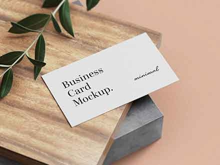 inimal Business Card mockups