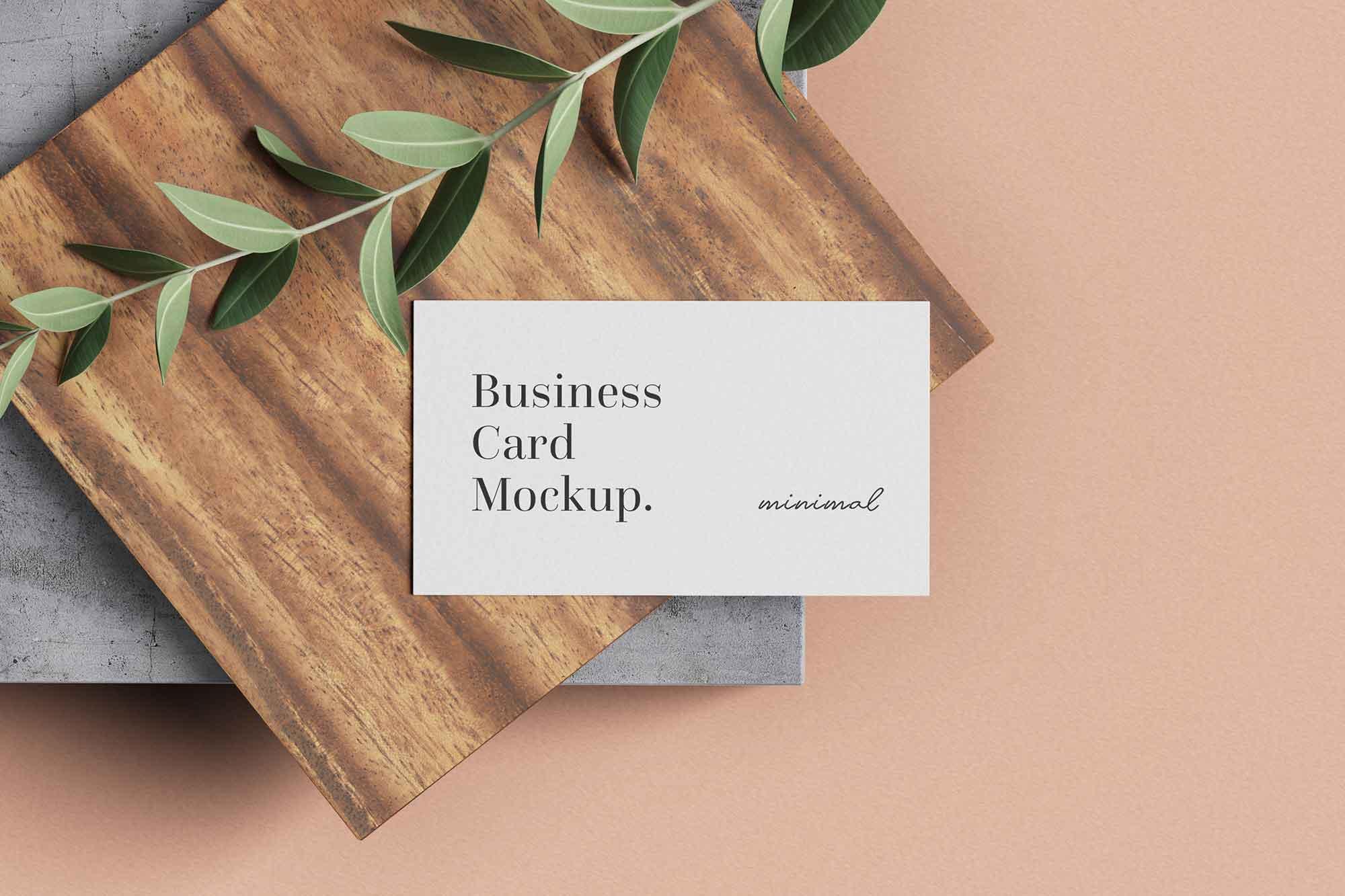 inimal Business Card mockup 2