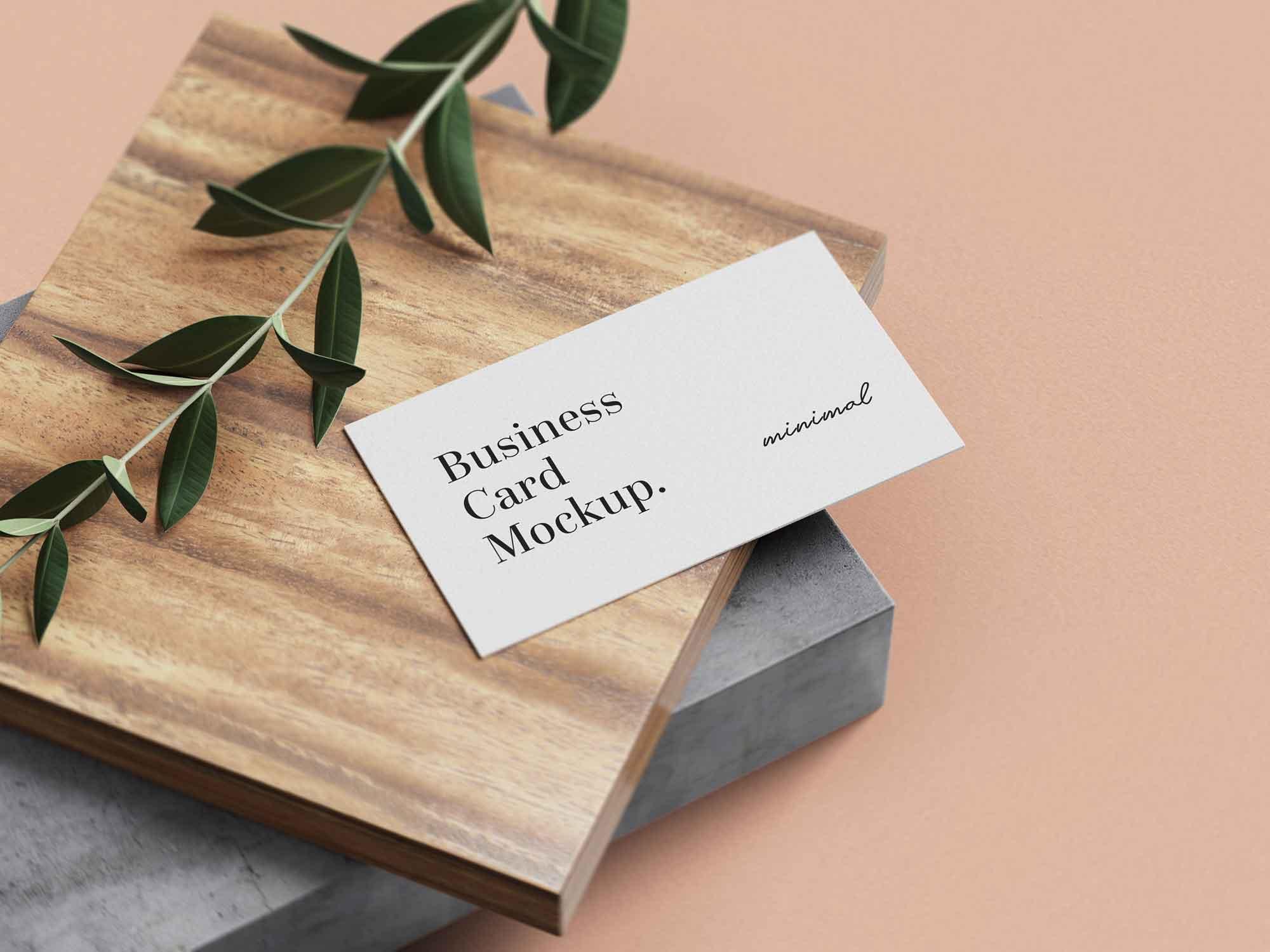 inimal Business Card mockup