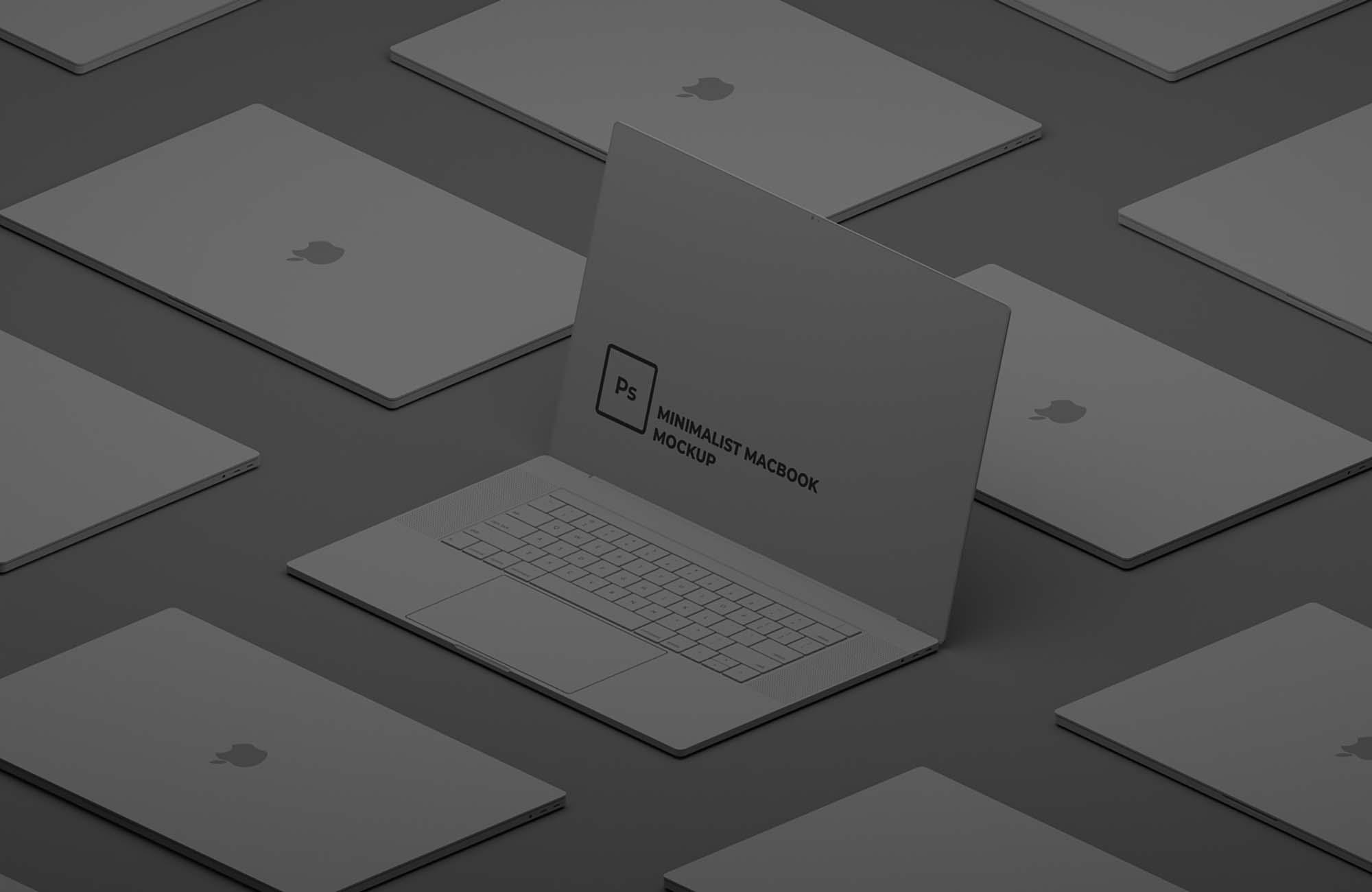 Minimalist Macbook Mockup 2