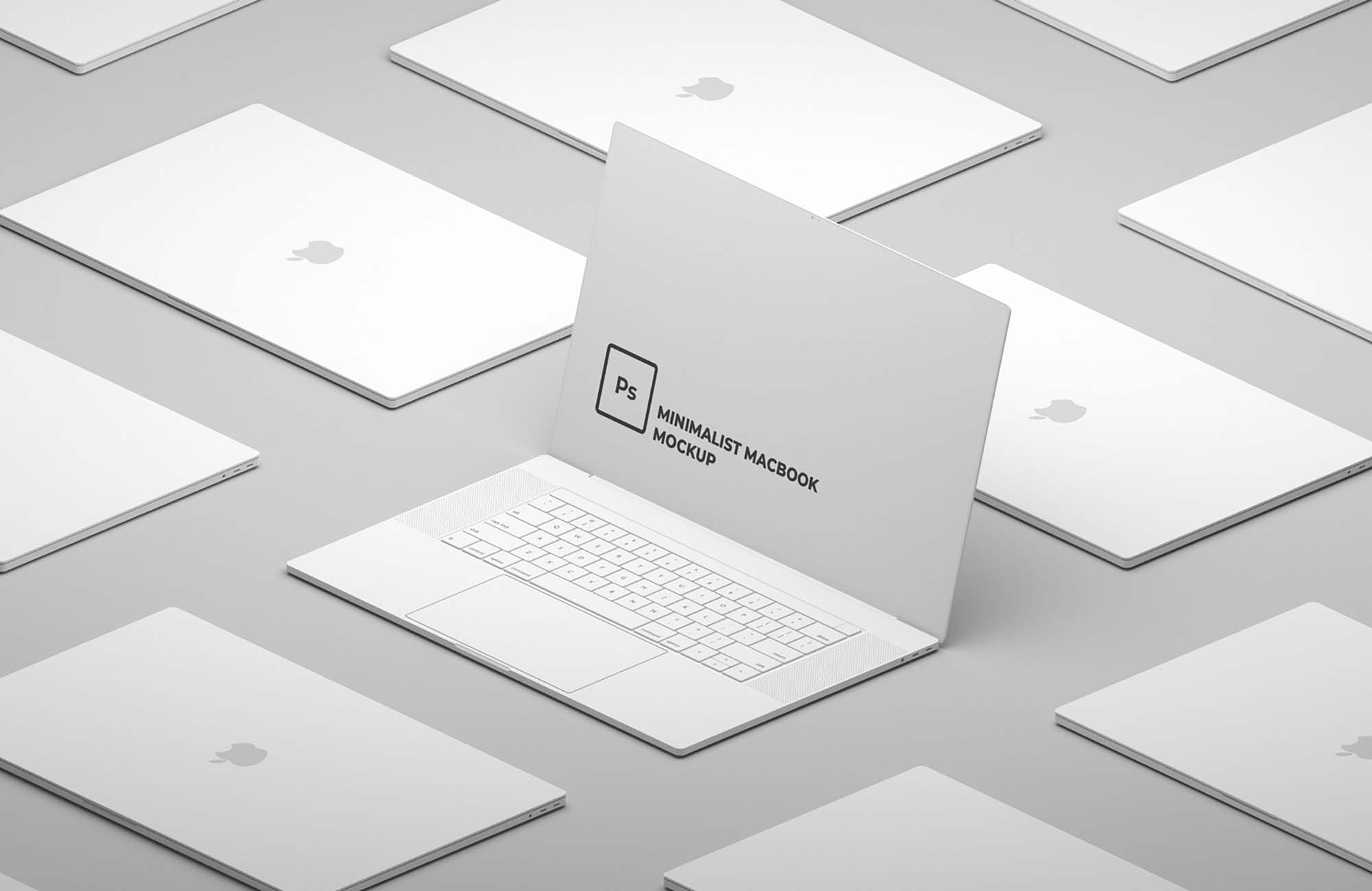 Minimalist Macbook Mockup