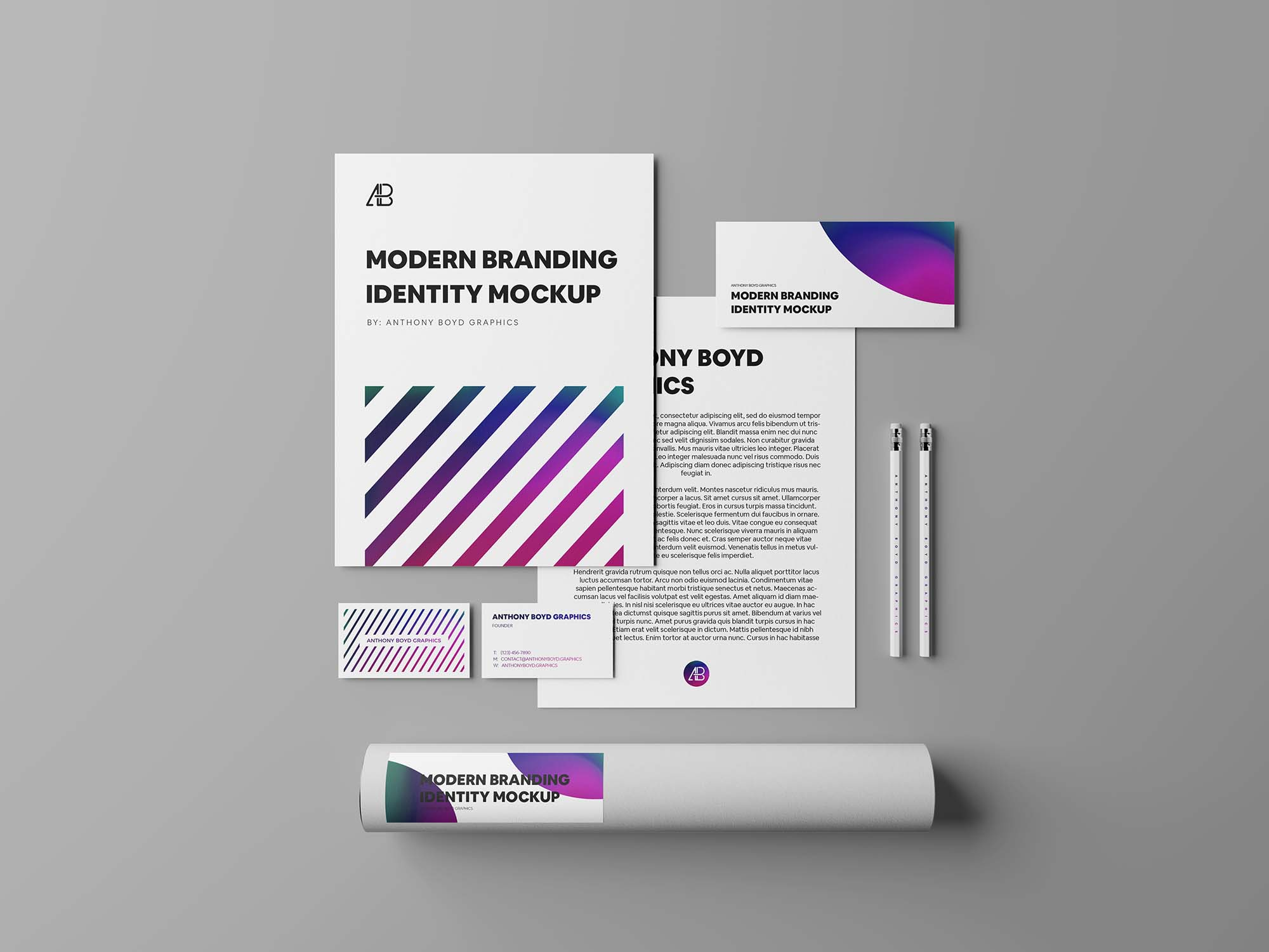 Modern Branding Identity White - Part 04