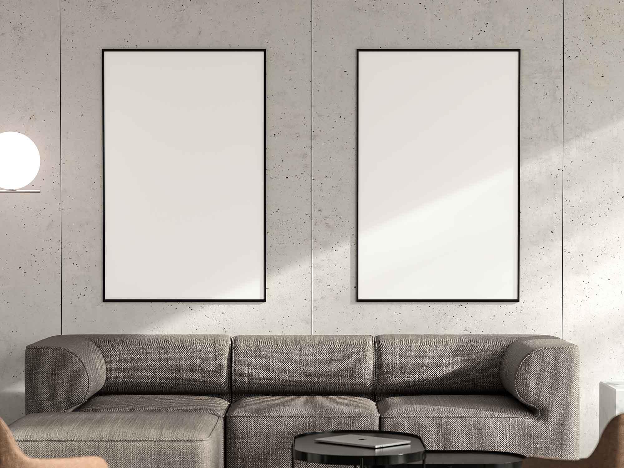 Modern Vertical Posters Mockup 2
