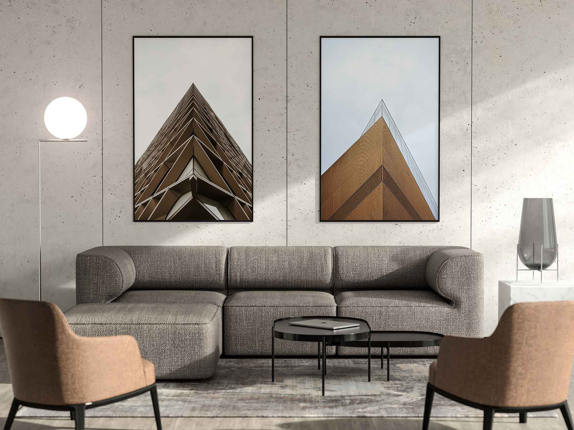Modern Vertical Posters Mockup