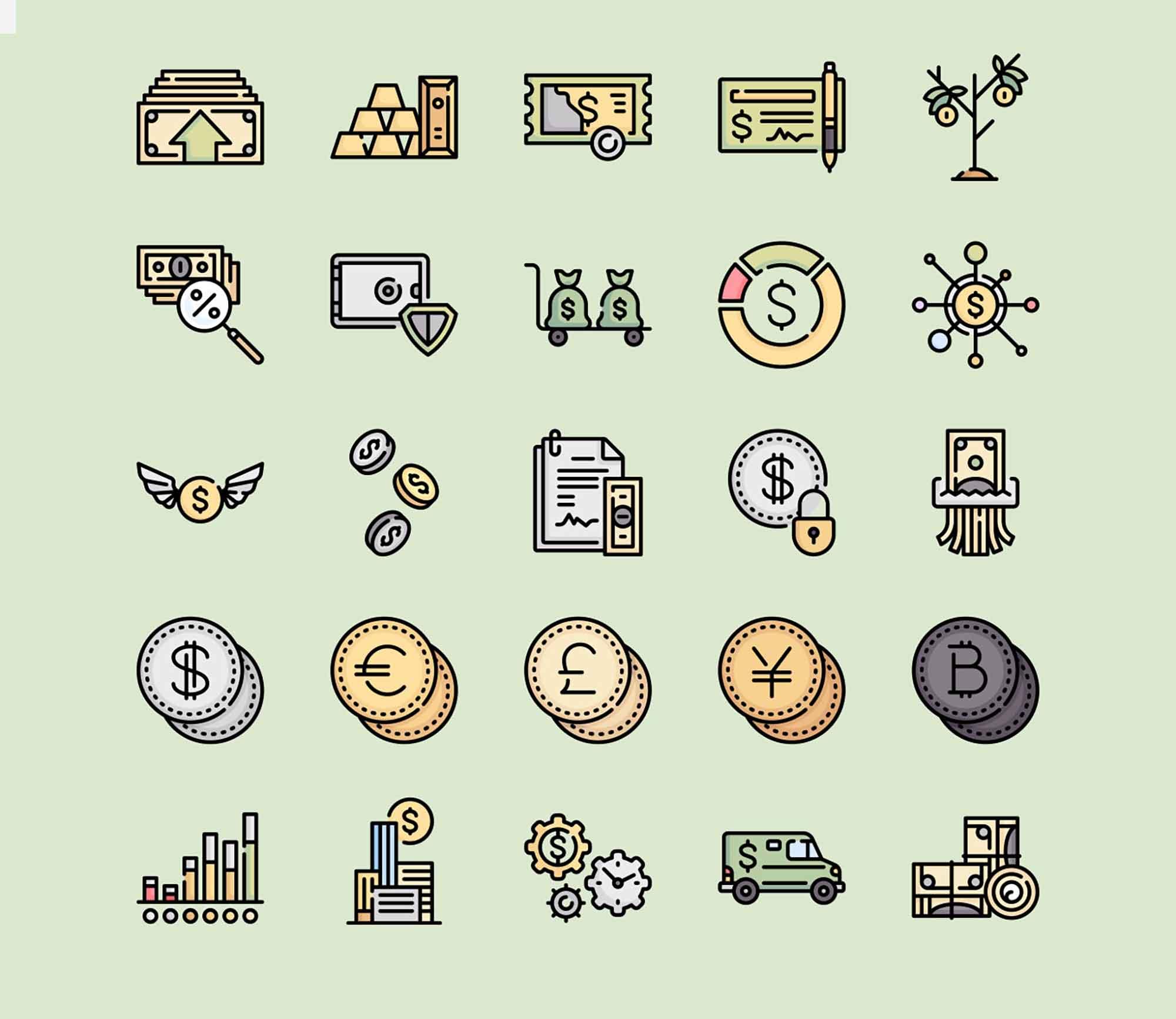 Money Vector Icons 2