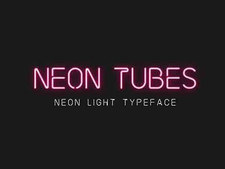 Neon Tubes Font