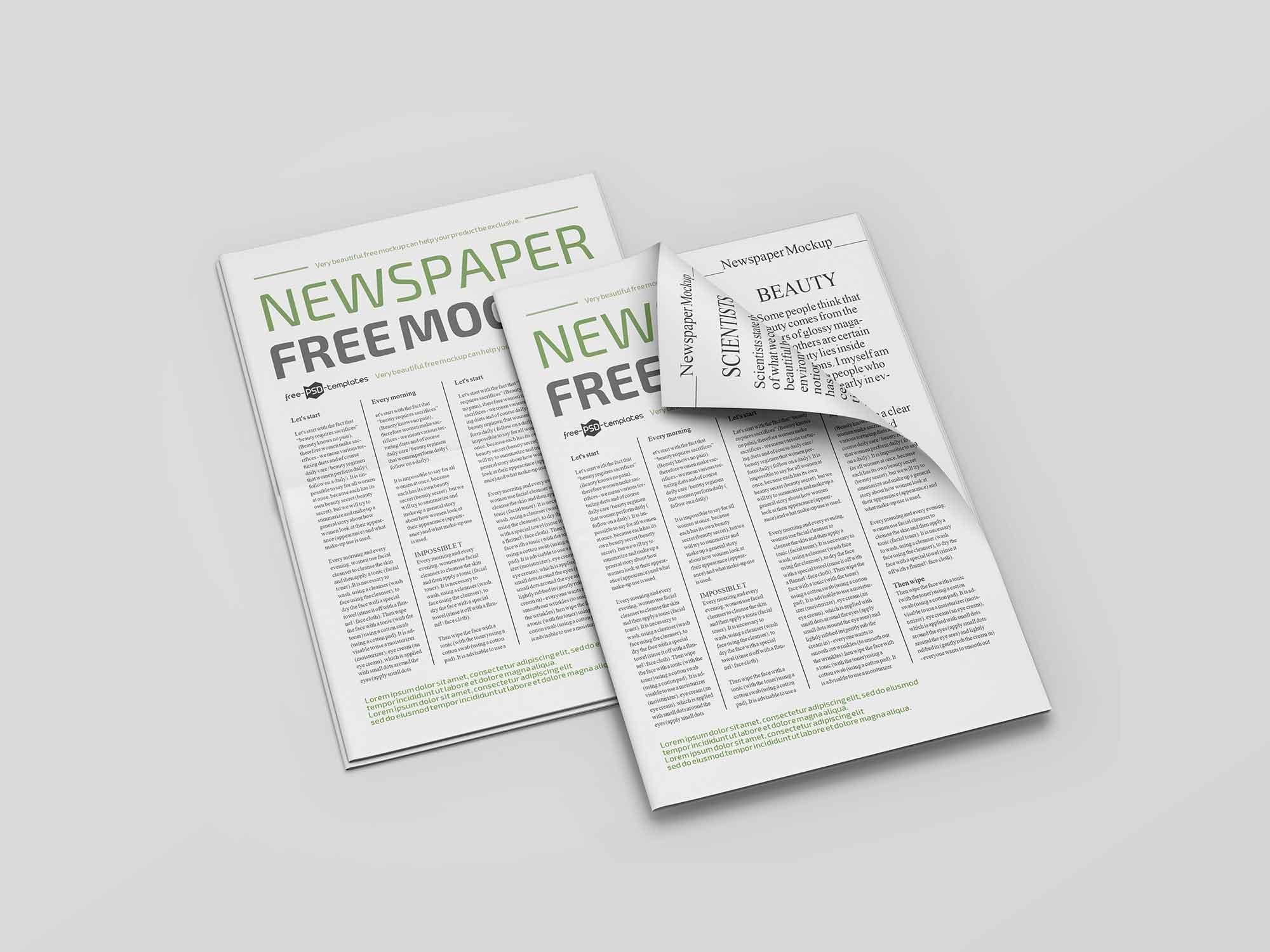 Newspaper Mockup 2