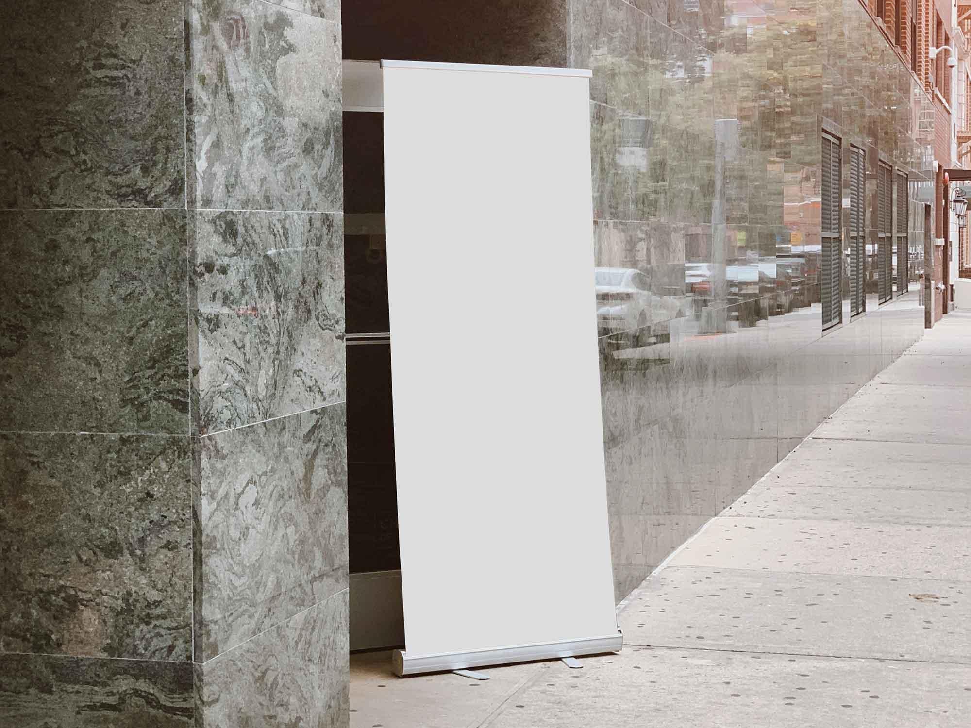 Outdoor Standing Banner Mockup 2