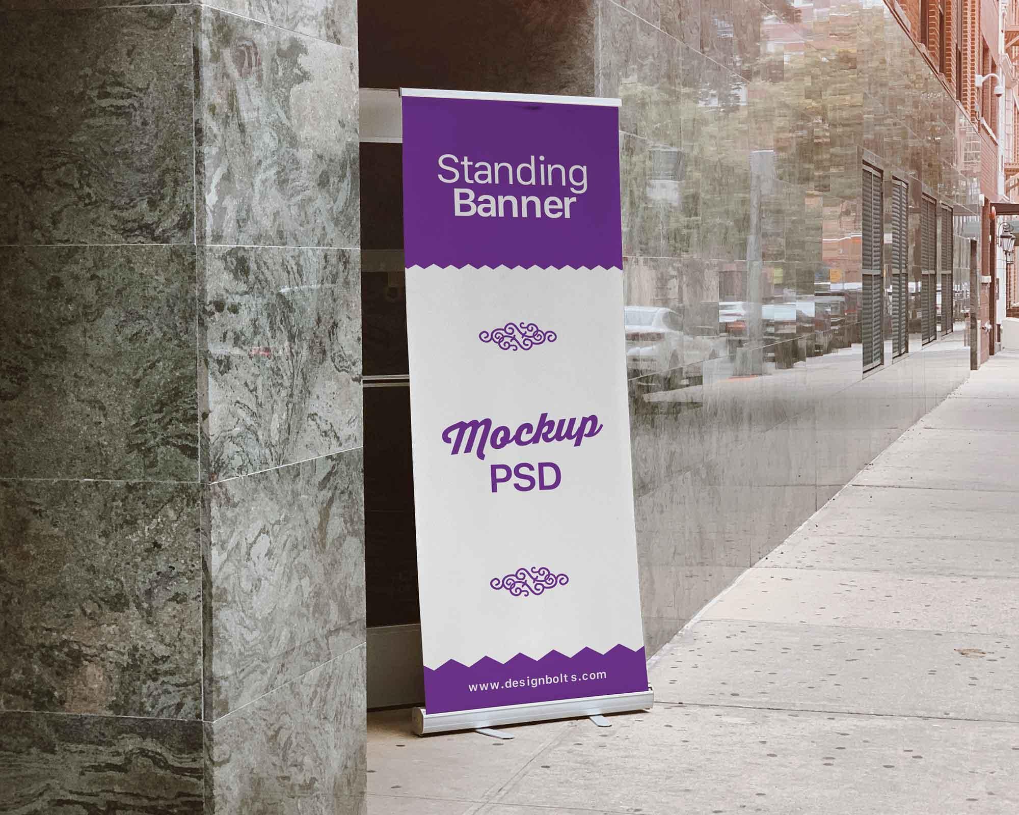 Outdoor Standing Banner Mockup