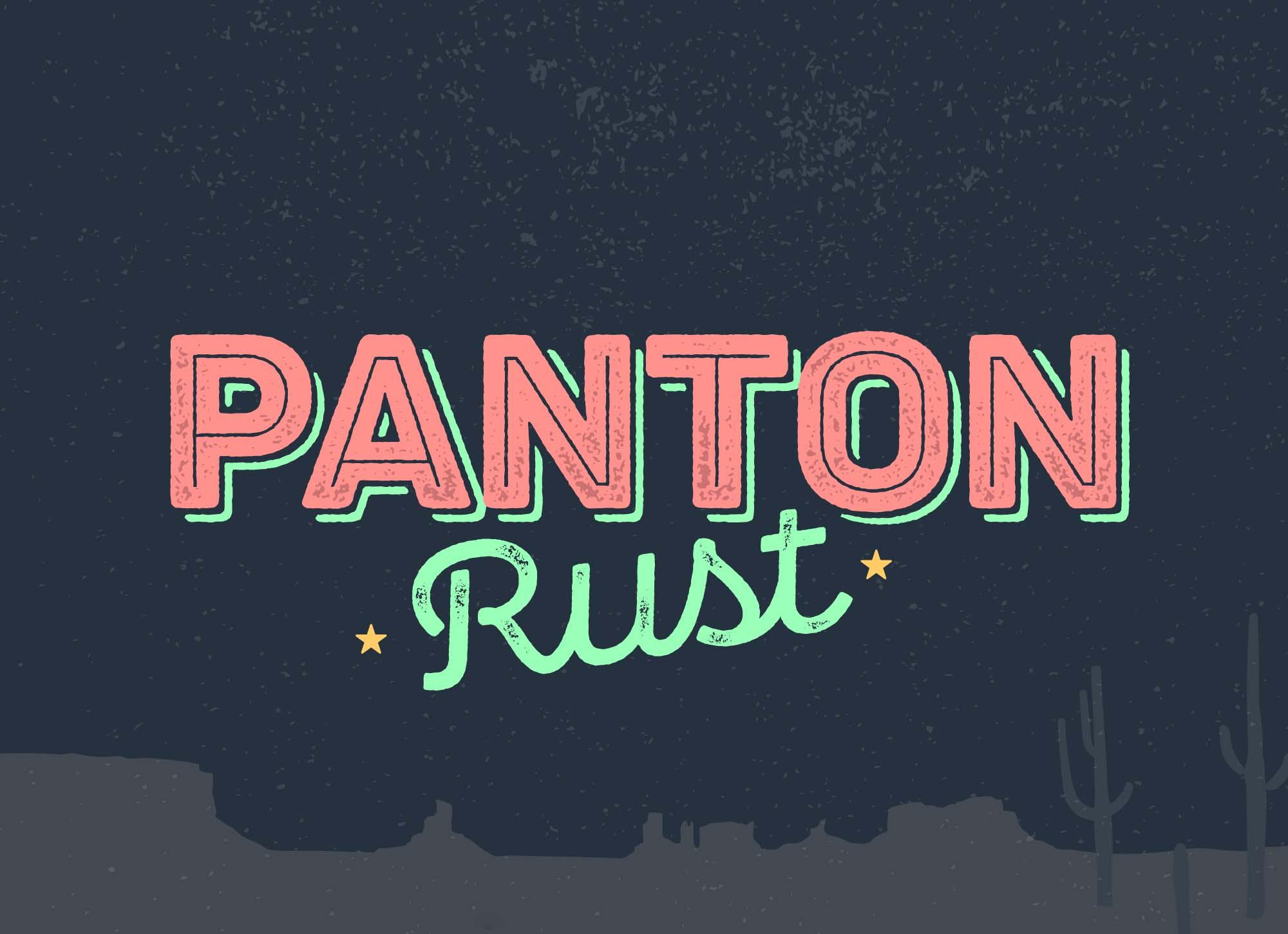 Pantone Rust Font