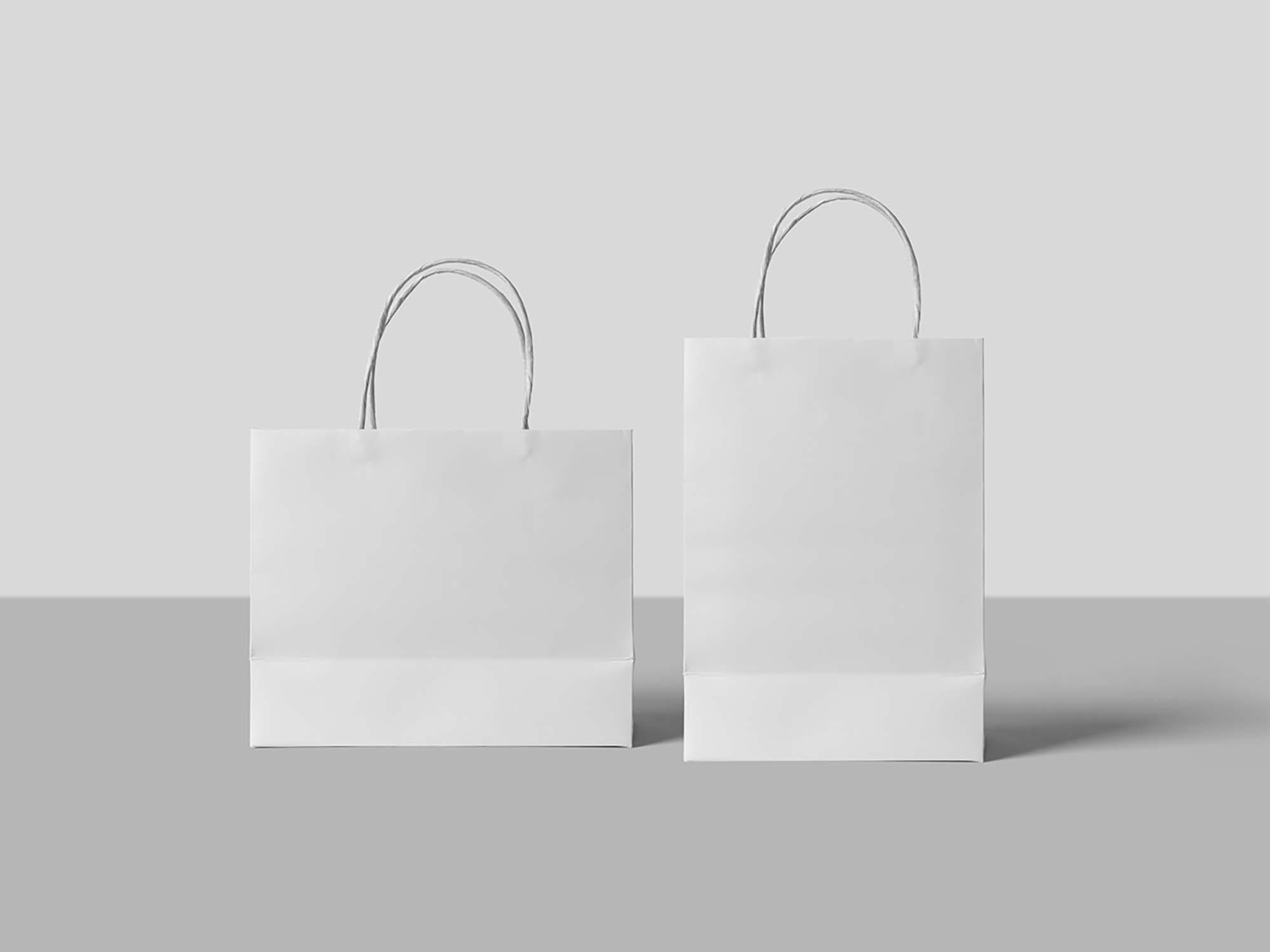 Paper Shopping Bags Mockup 2