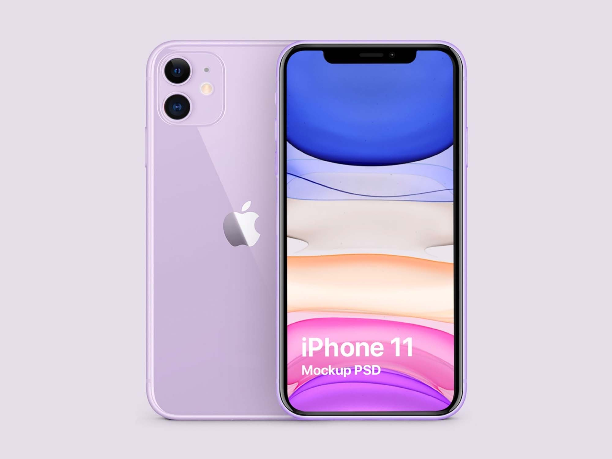 Purple iPhone 11 Mockup