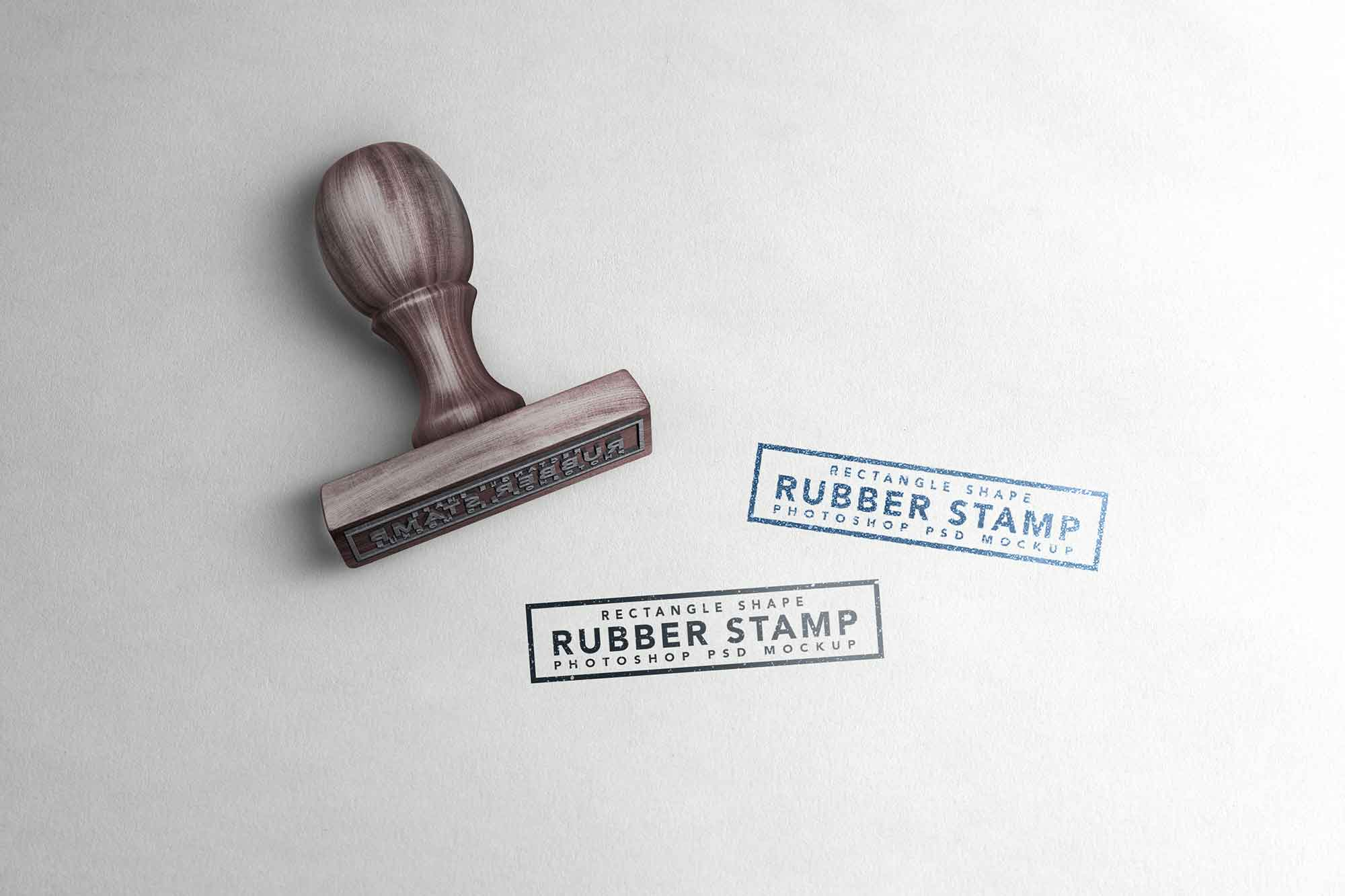 Rectangle Rubber Stamp Mockup 2