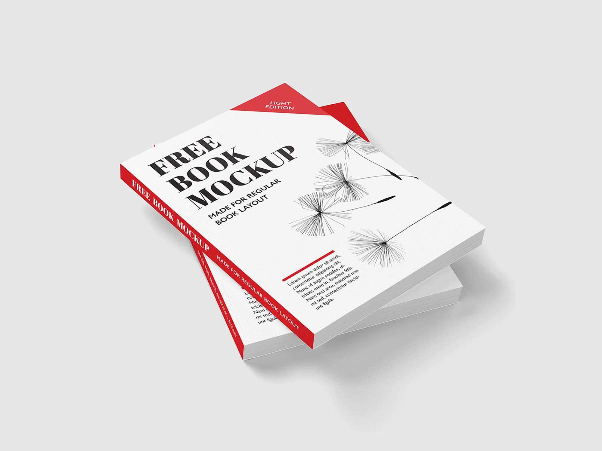 Regular Book Mockup
