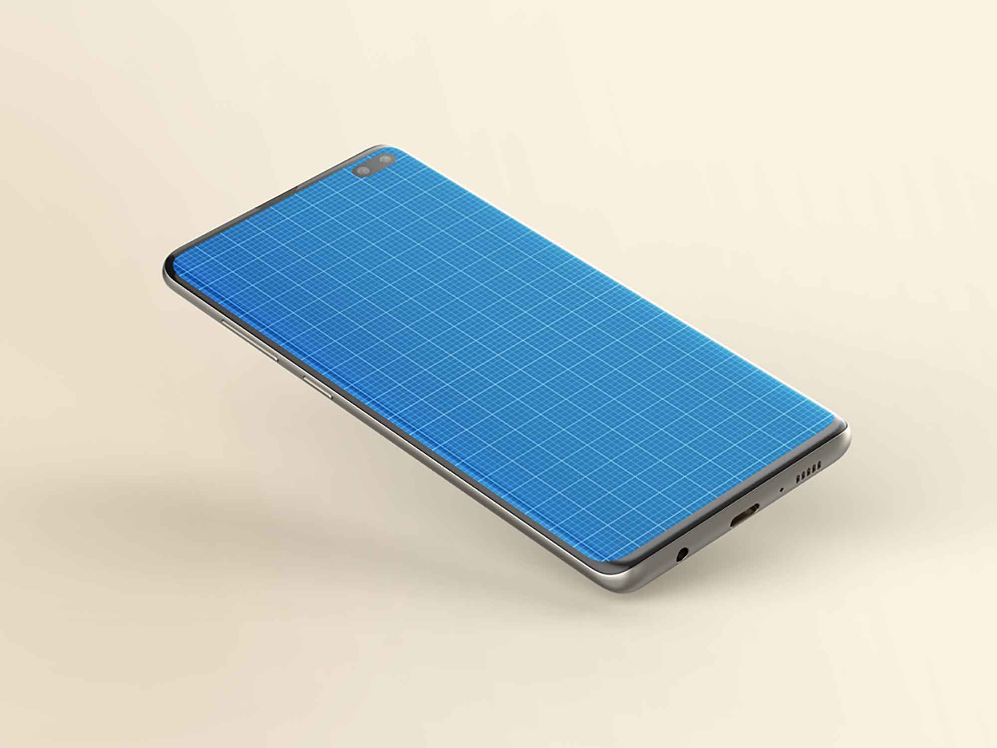 Samsung Galaxy S10+ Mockup 3