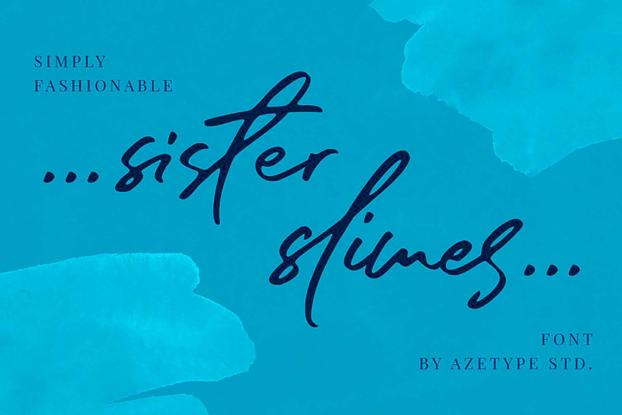 Sister Slimes Font 6