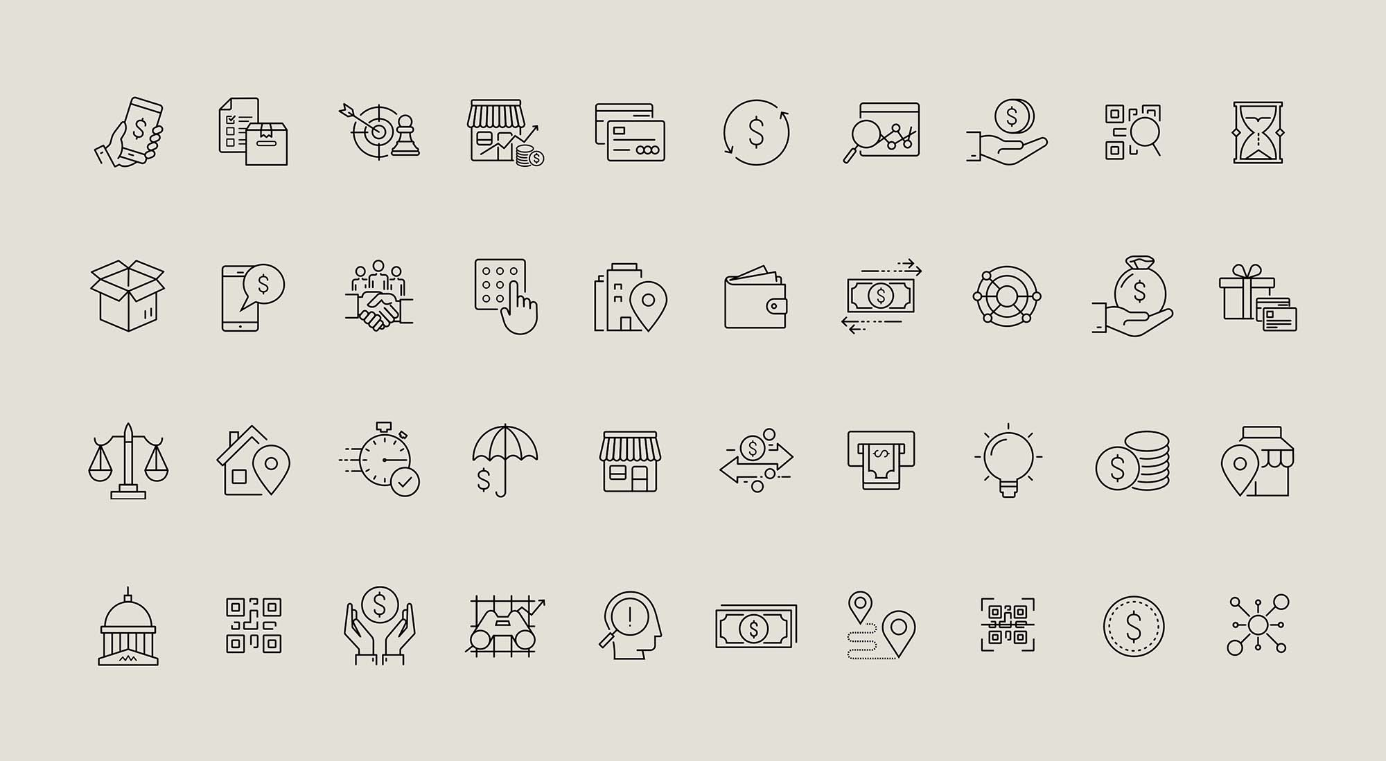 Sketch Financial Icons 2